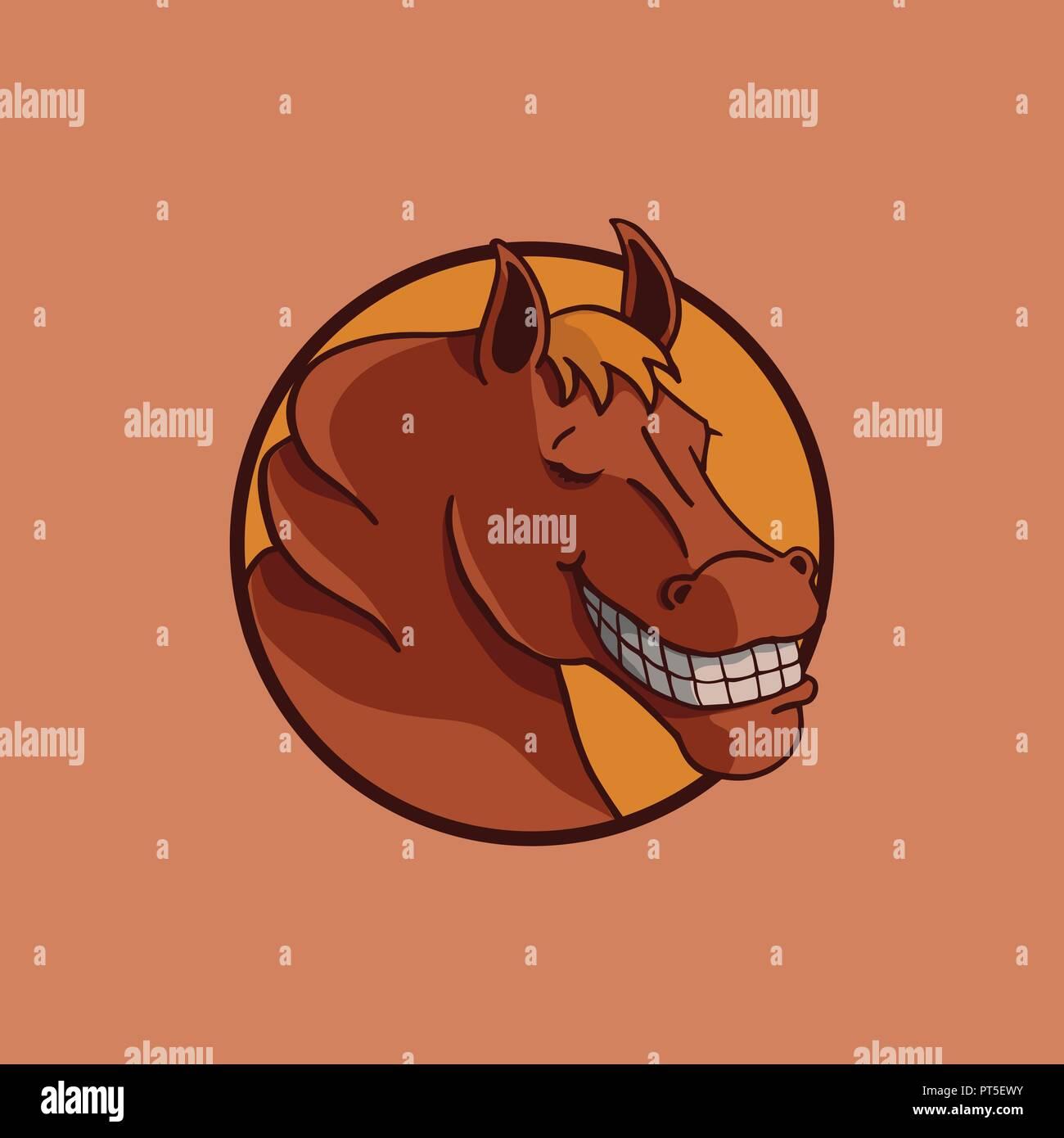 Smile Horse Illustration Vector Design
