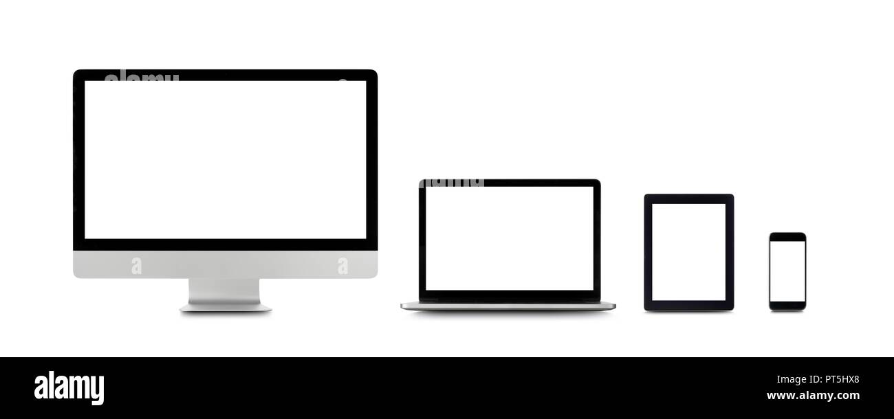 Blank digital device screens. - Stock Image