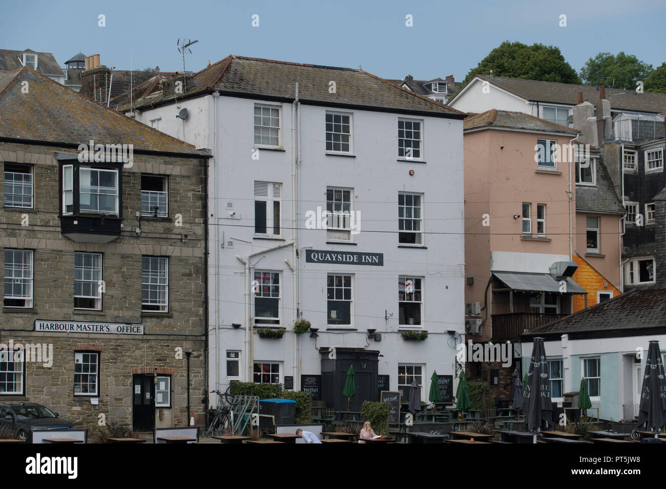 Quayside Inn at Falmouth - Stock Image