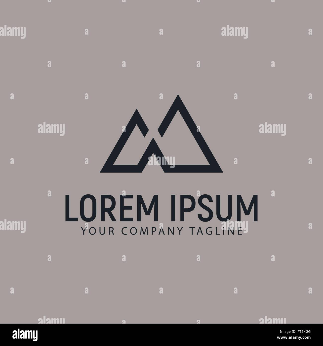 modern minimalist mountain logo design concept template - Stock Vector