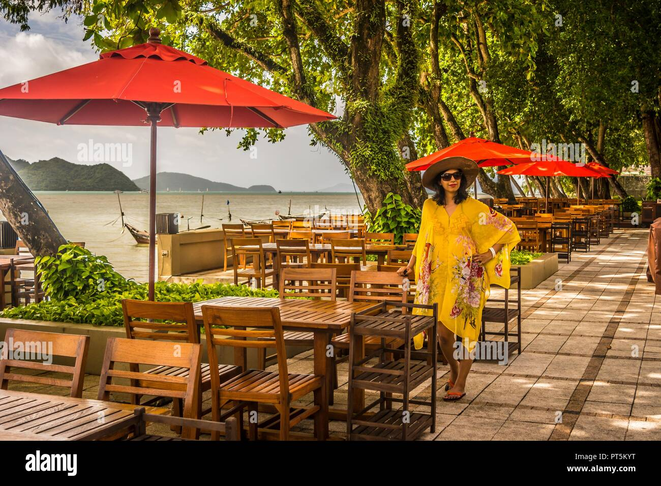 In Phuket, Thailand before going to banana island - Stock Image