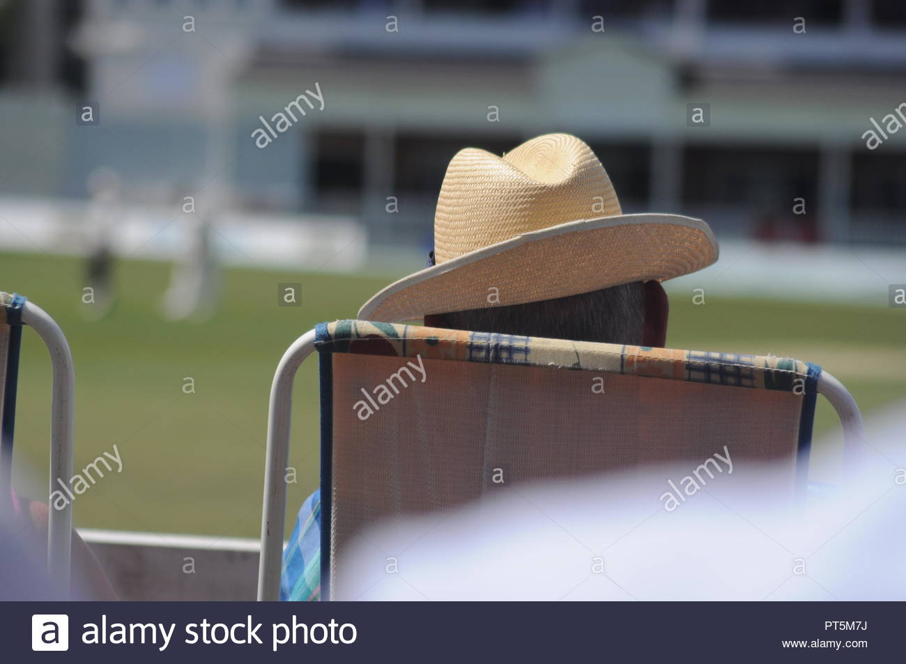 b118ce52 Man in hat watching a cricket match in summer Stock Photo: 221401814 ...
