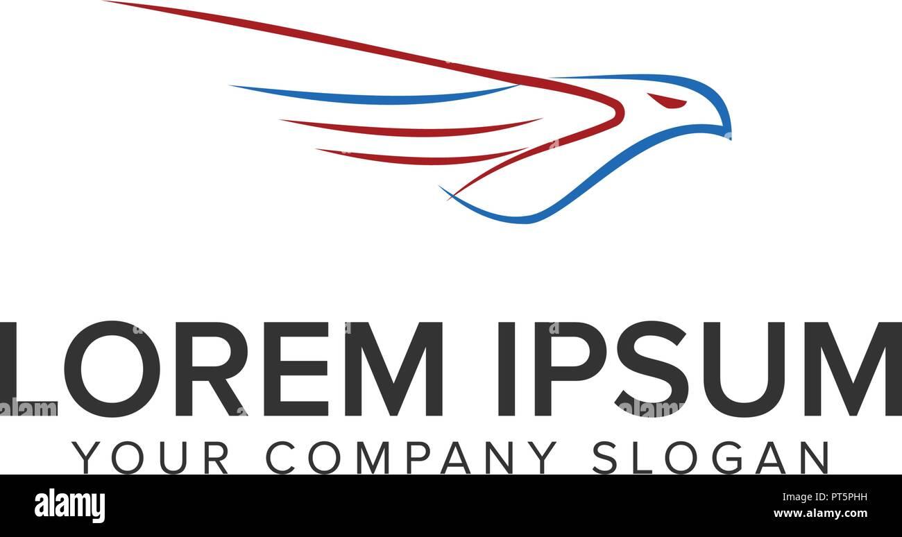 abstract flying bird logo design concept template stock vector art