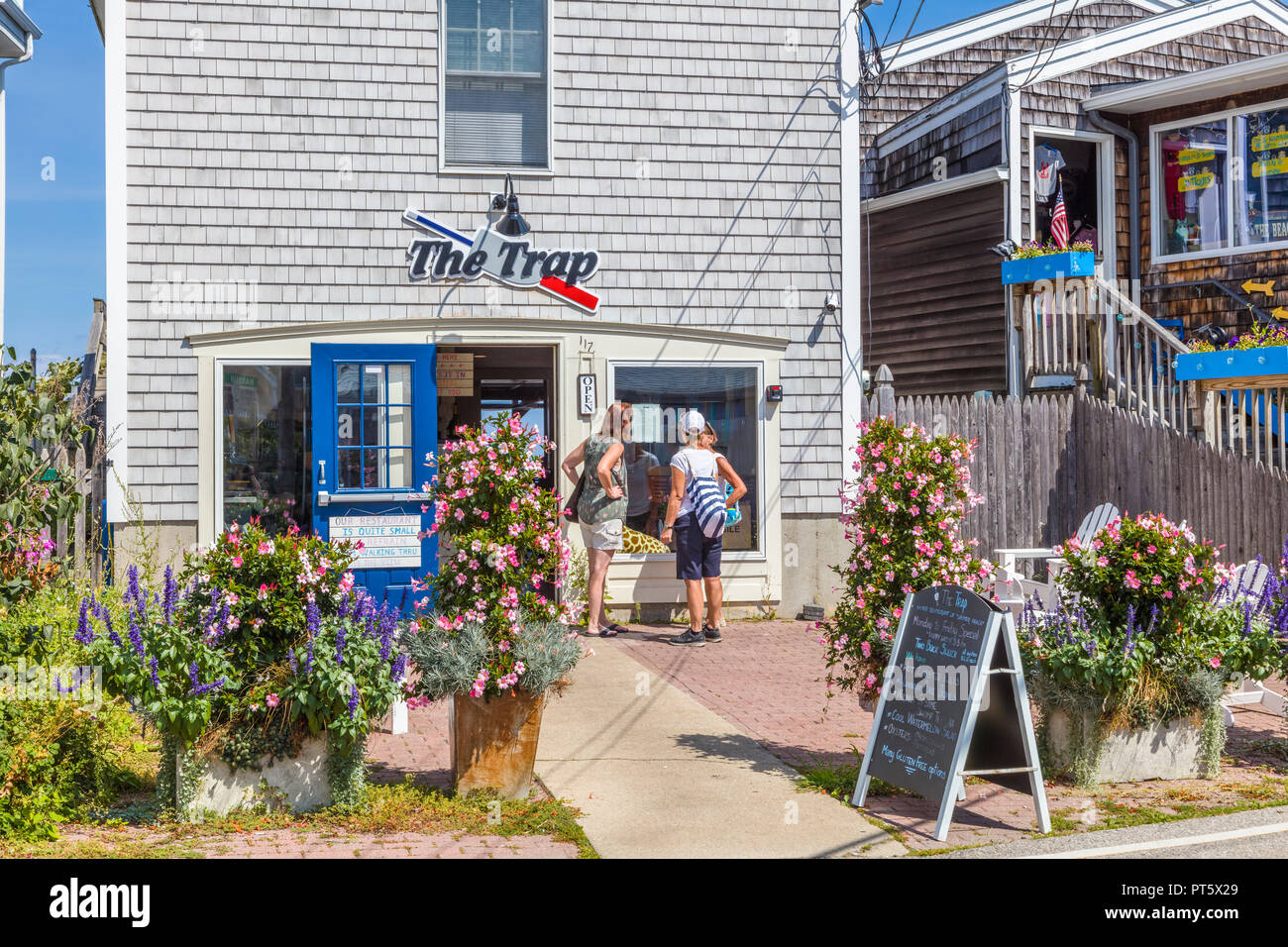 Shops And Restaurants In Perkins Cove In Ogunquit Maine In The