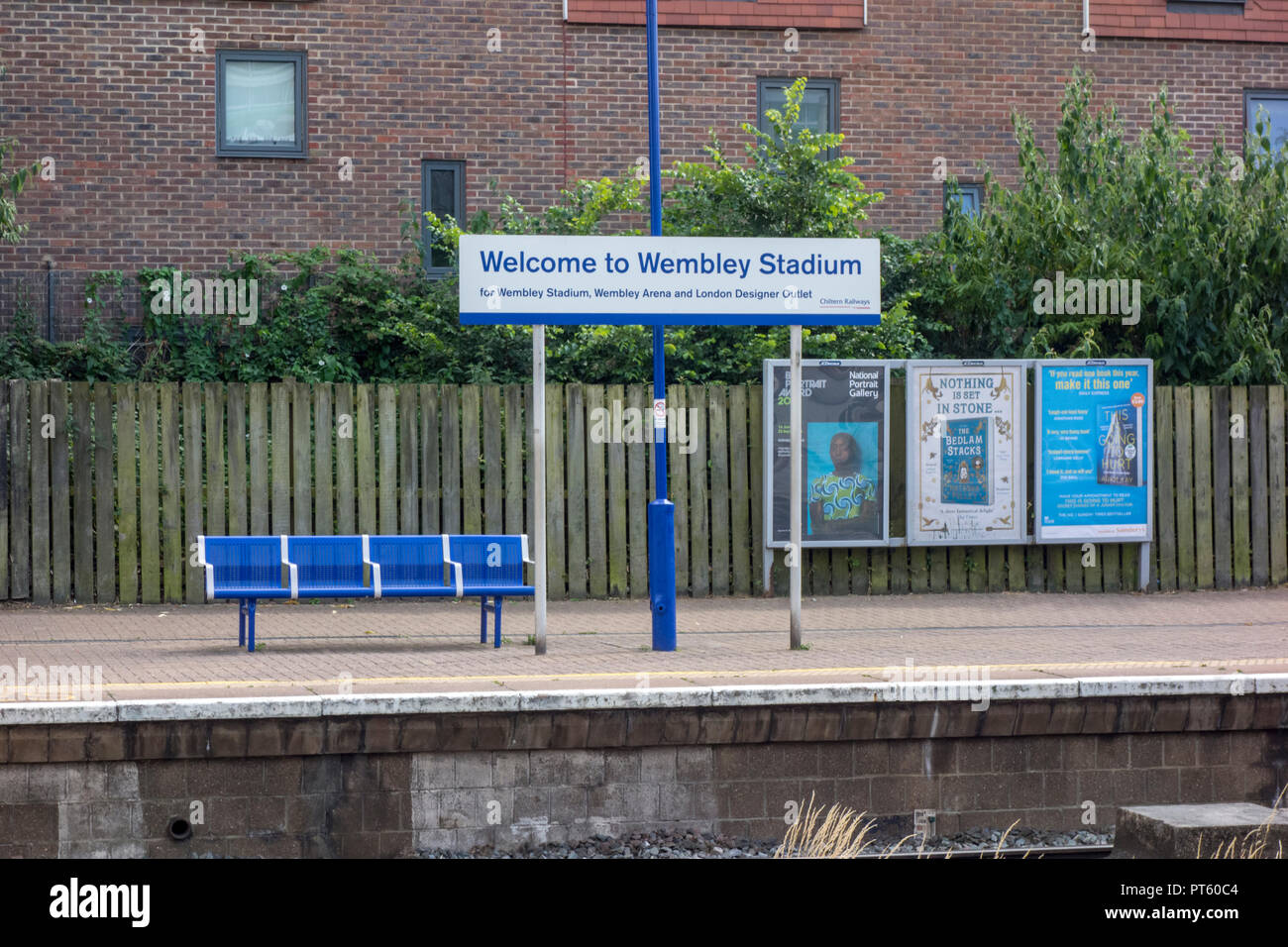 Wembley Stadium railway station, London, UK - Stock Image