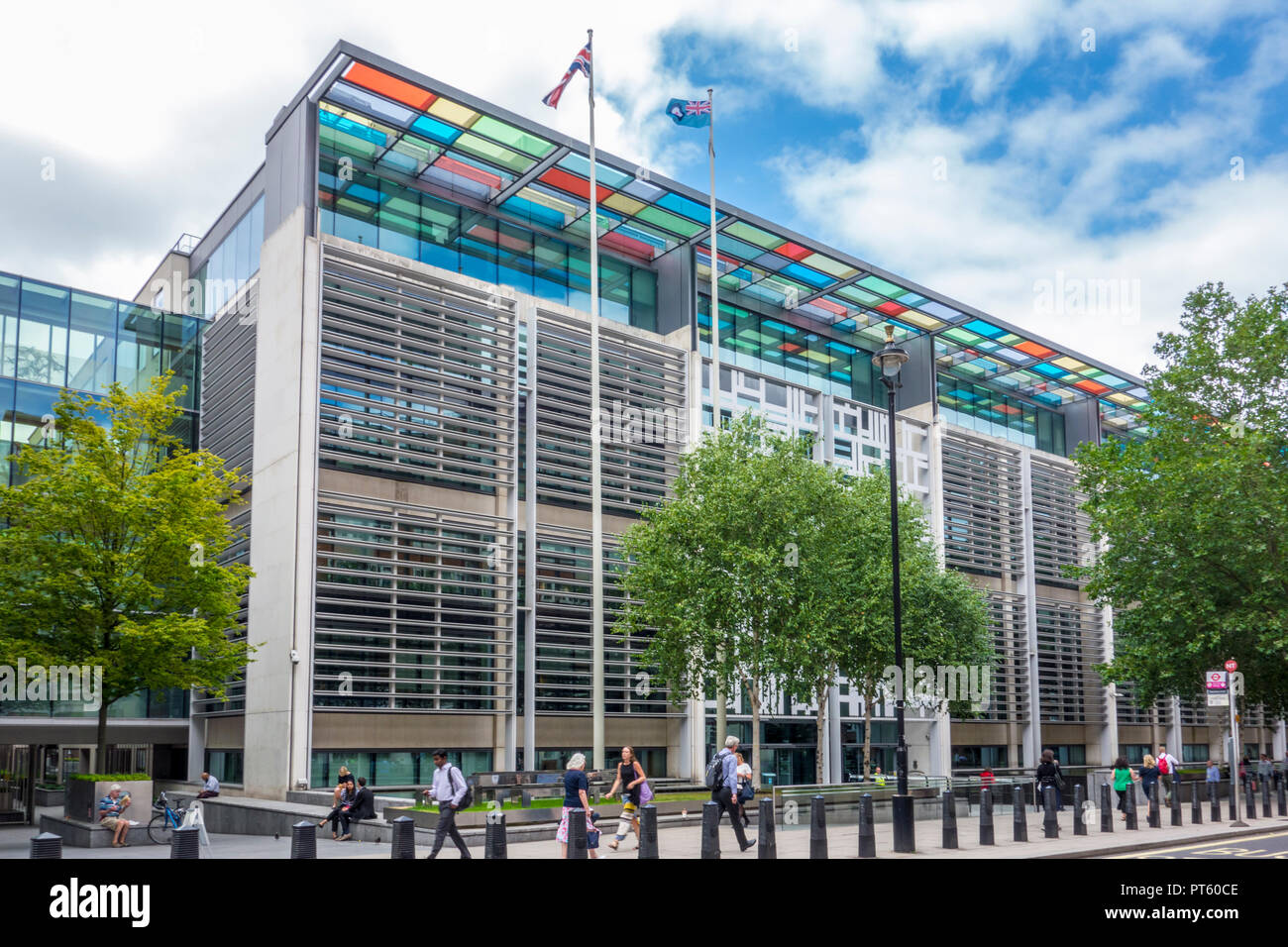 2 Marsham Street, Home Office government building by Terry Farrell of Farrells architects, Westminster, London, UK - Stock Image