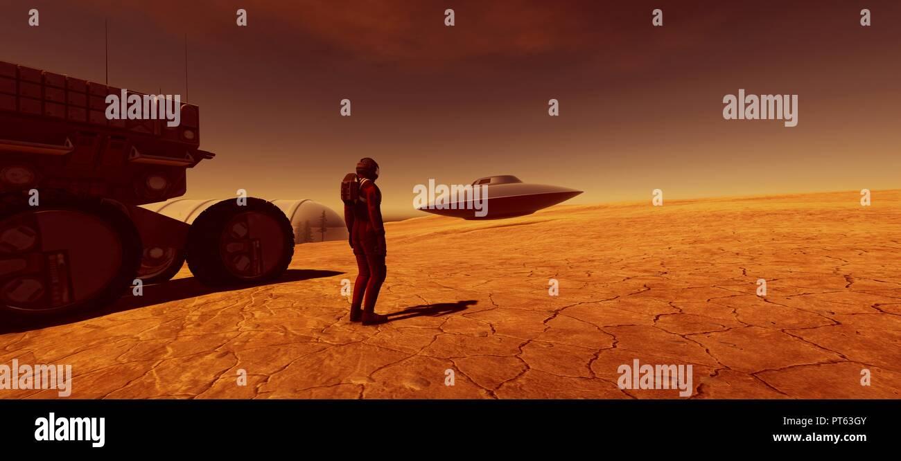 Zeta Reticuli Alien Planet Stock Photos & Zeta Reticuli Alien Planet