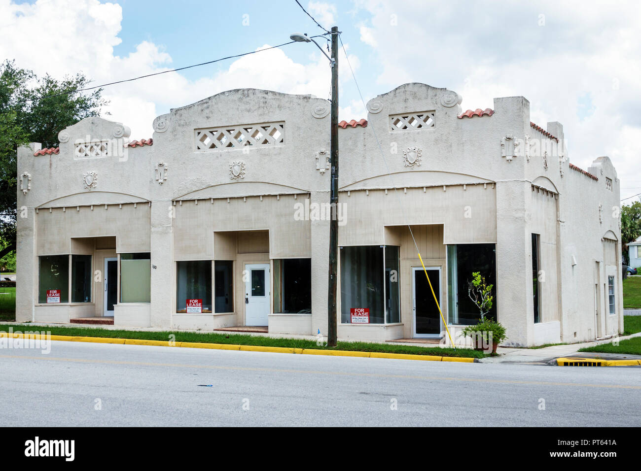 Davenport Florida commercial real estate for lease empty vacant building - Stock Image