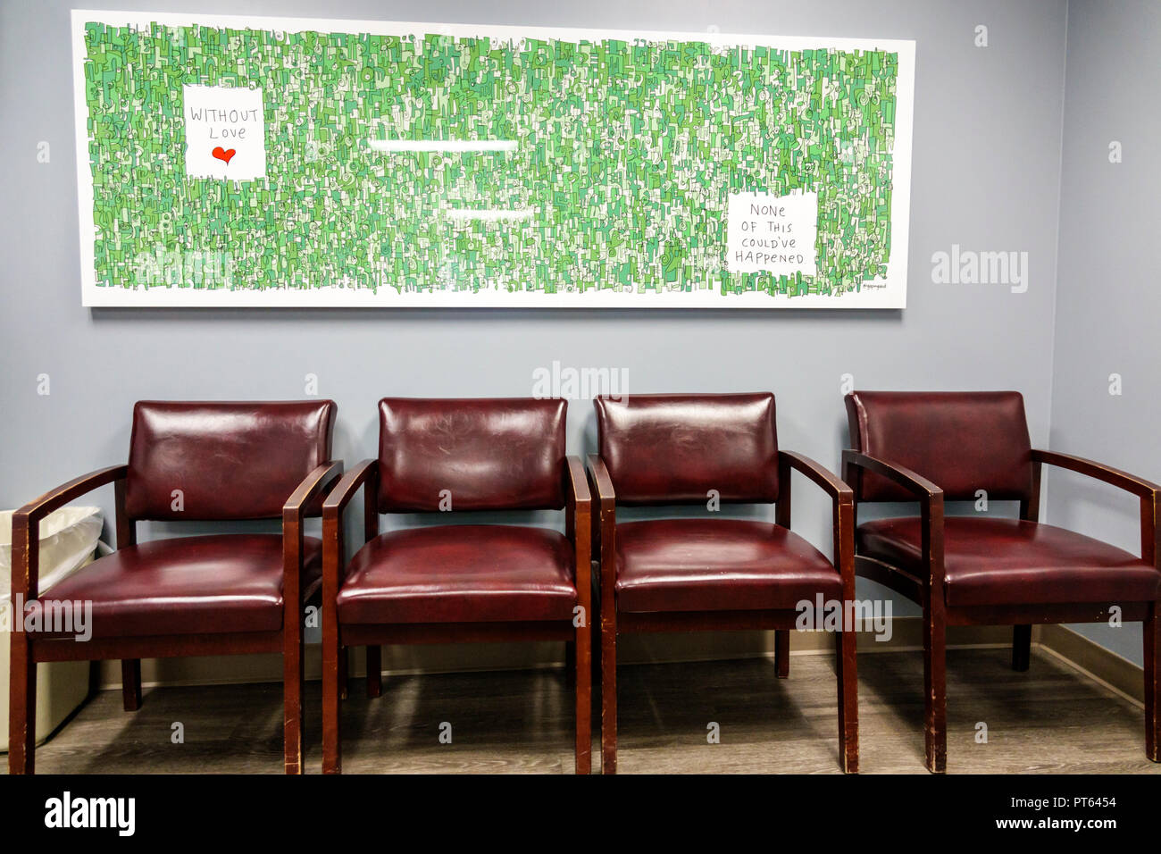 Miami Beach Florida Mount Mt. Sinai Medical Center centre waiting room - Stock Image