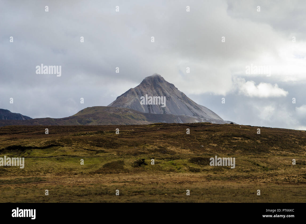 Mount Errigal Dunlewey Gweedore Donegal Ireland Europe - Stock Image