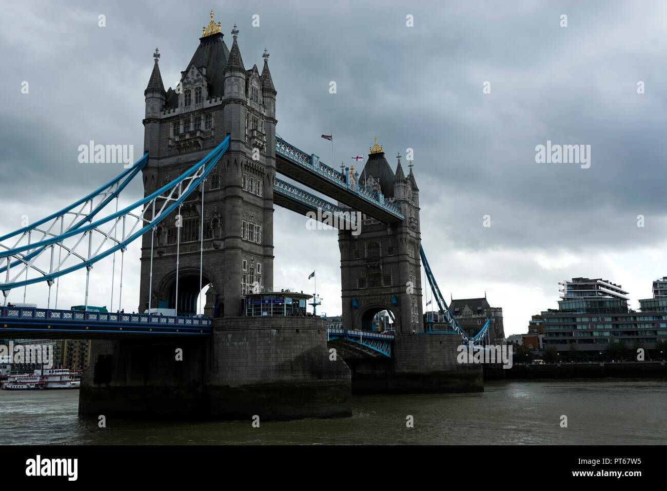 Tower bridge over the river Thames in London city in 19. September 2018. ( United Kingdom ) - Stock Image