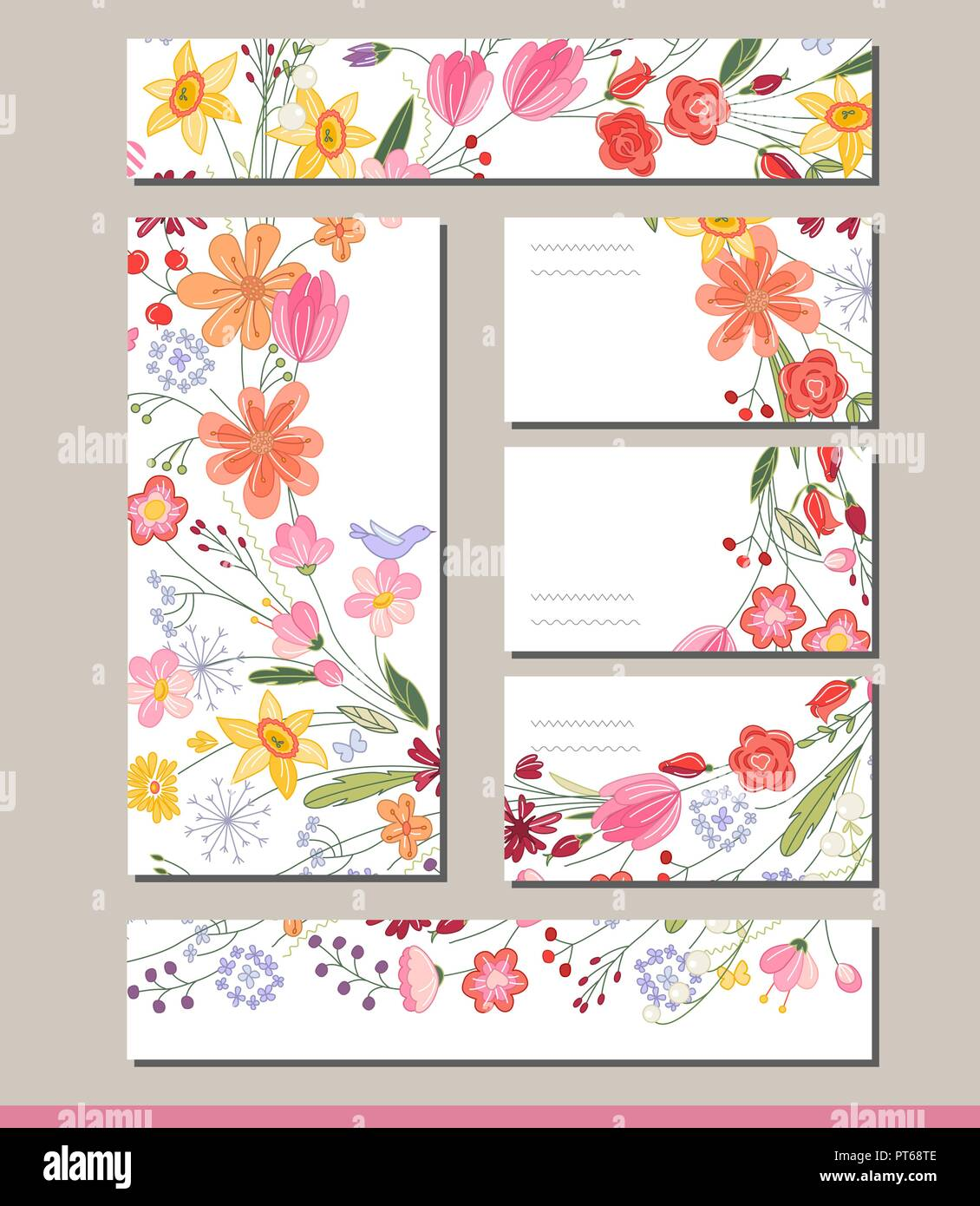 summer templates with contour flowers template for your design