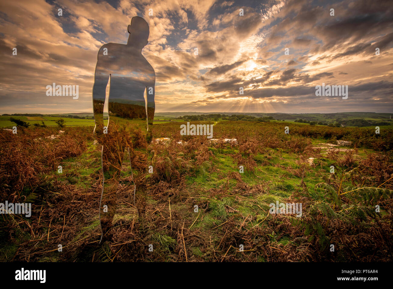 'The Settlement', an artistic installation by Rob Mulholland, in situ on Birkrigg Common above Ulverston in Cumbria.    A part of the Festival of the  - Stock Image