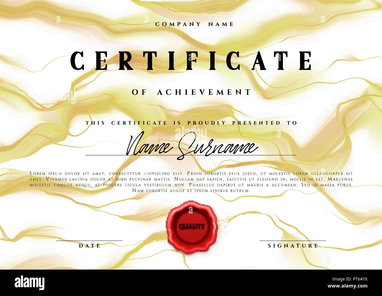 Template Design Of The Certificate Vector Diploma Stock Vector Art