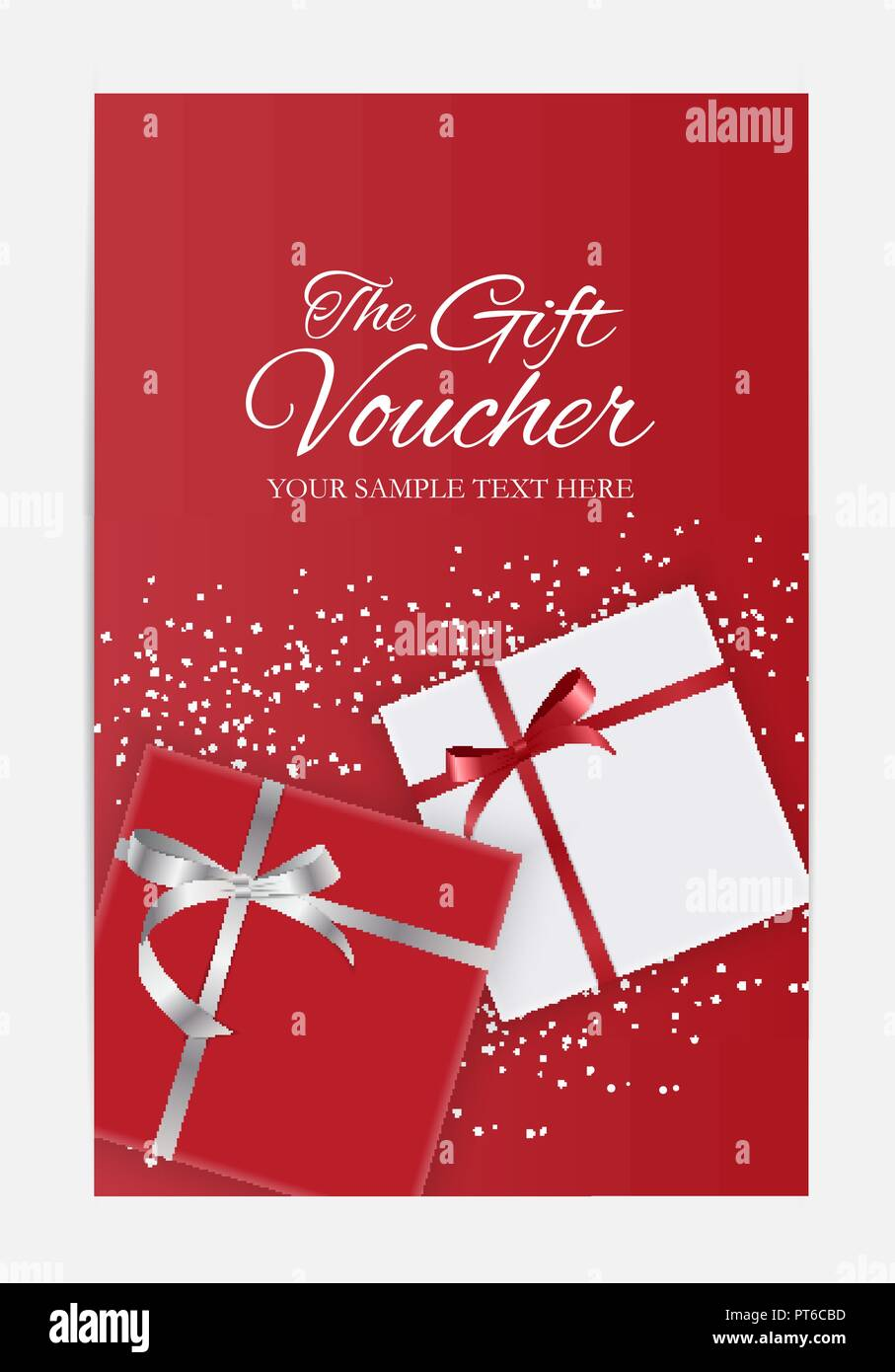 Gift Voucher Template For Your Business Vector Illustration