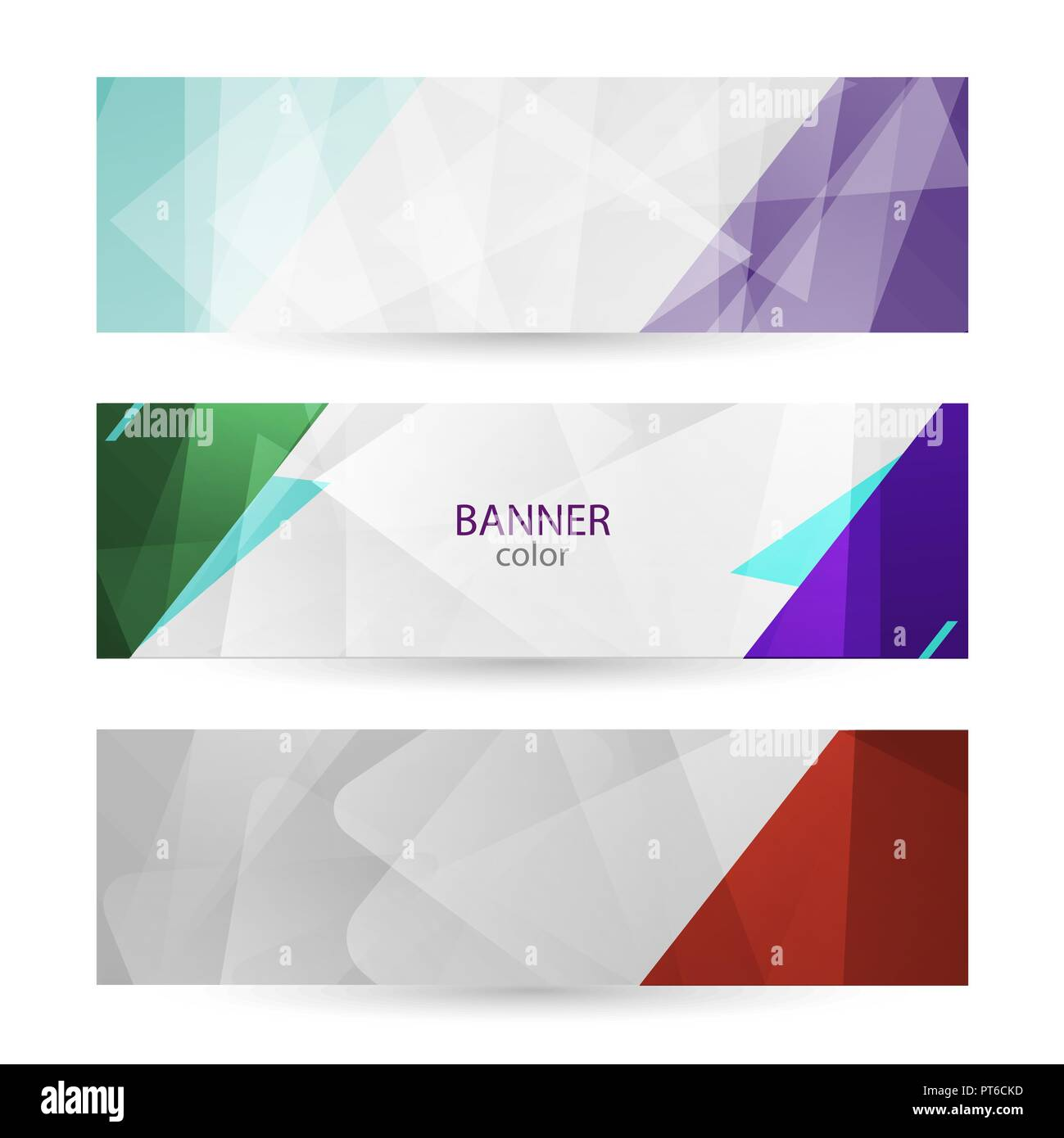 Set horizontal bright banners with empty place for text. Abstract graphic vector backgrounds. color banner templates for your projects. Stock Vector