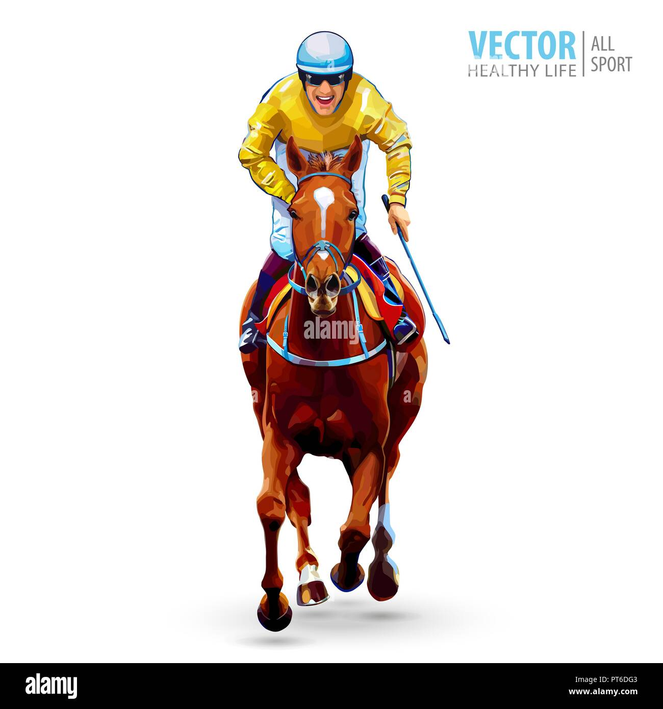 Jockey On Horse Champion Racing Hippodrome Racetrack Jump