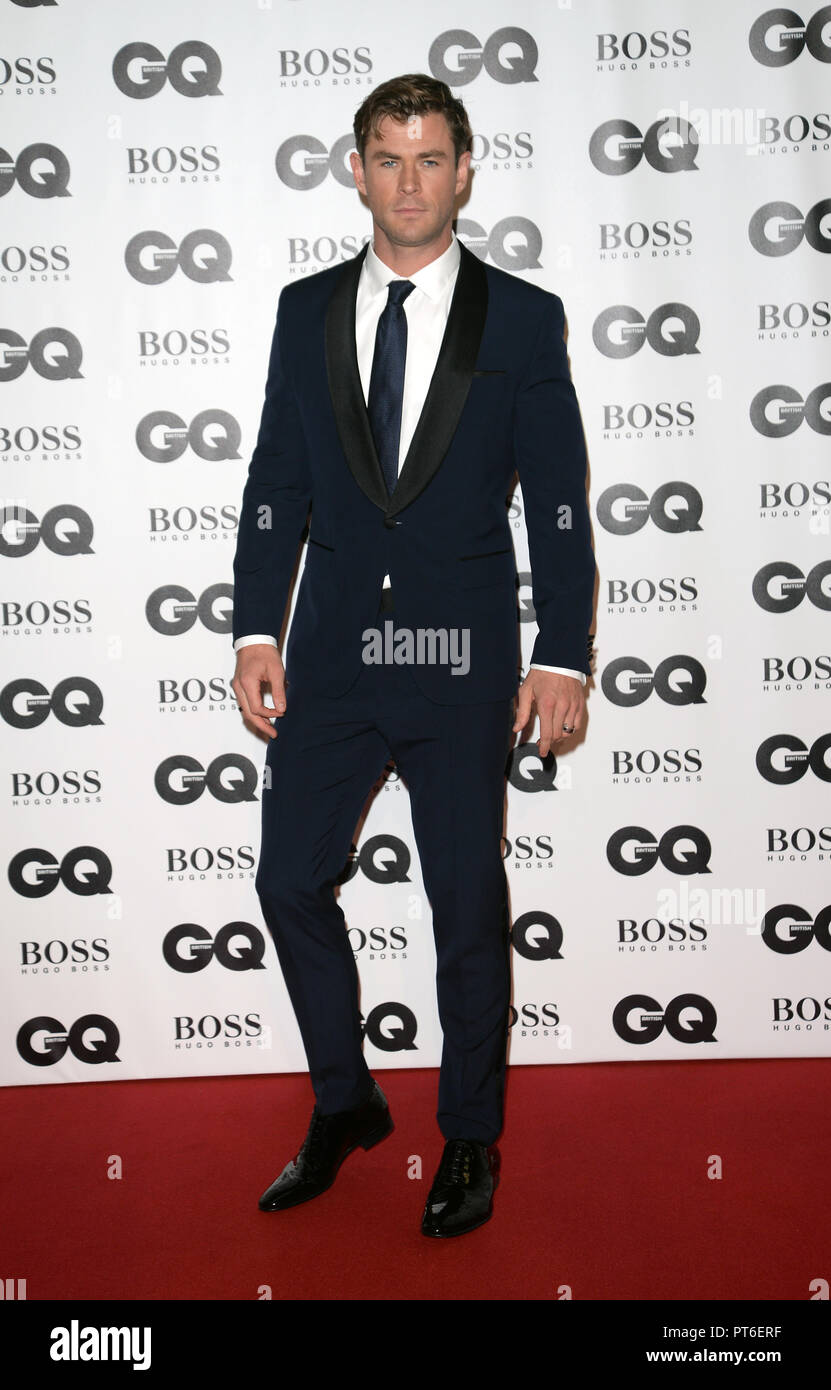 GQ Men Of The Year Awards at The Tate Modern  Featuring: Chris Hemsworth Where: London, United Kingdom When: 05 Sep 2018 Credit: Tony Oudot/WENN - Stock Image