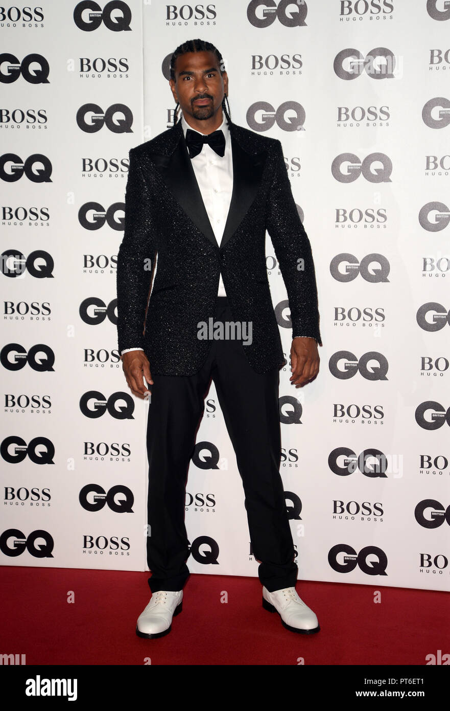 GQ Men Of The Year Awards at The Tate Modern  Featuring: David Haye Where: London, United Kingdom When: 05 Sep 2018 Credit: Tony Oudot/WENN Stock Photo
