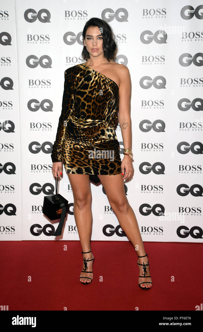GQ Men Of The Year Awards at The Tate Modern  Featuring: Dua Lipa Where: London, United Kingdom When: 05 Sep 2018 Credit: Tony Oudot/WENN Stock Photo