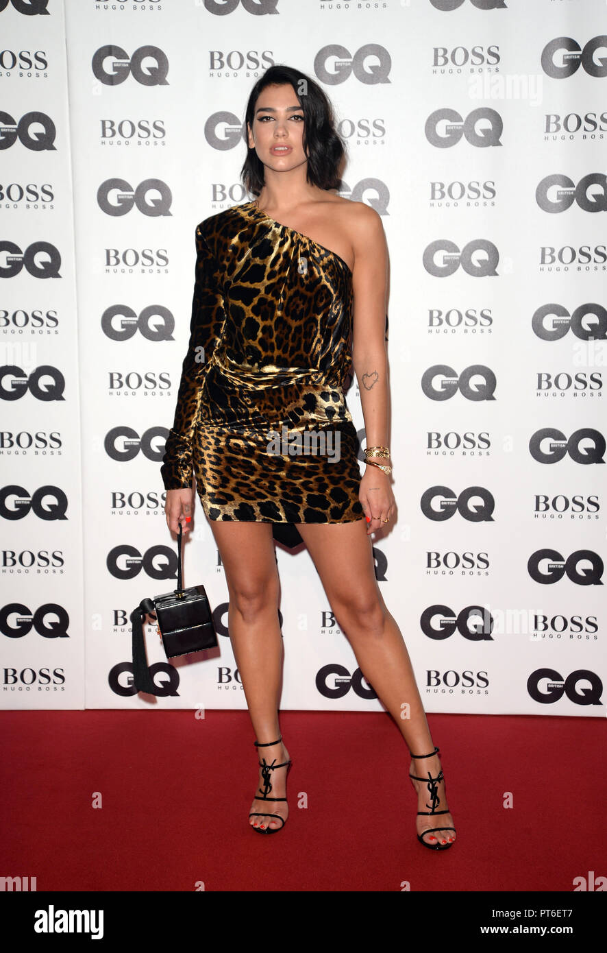 GQ Men Of The Year Awards at The Tate Modern  Featuring: Dua Lipa Where: London, United Kingdom When: 05 Sep 2018 Credit: Tony Oudot/WENN - Stock Image