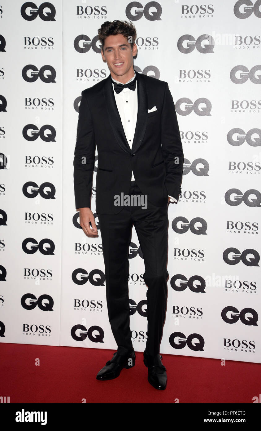 GQ Men Of The Year Awards at The Tate Modern  Featuring: Isaac Carew Where: London, United Kingdom When: 05 Sep 2018 Credit: Tony Oudot/WENN - Stock Image