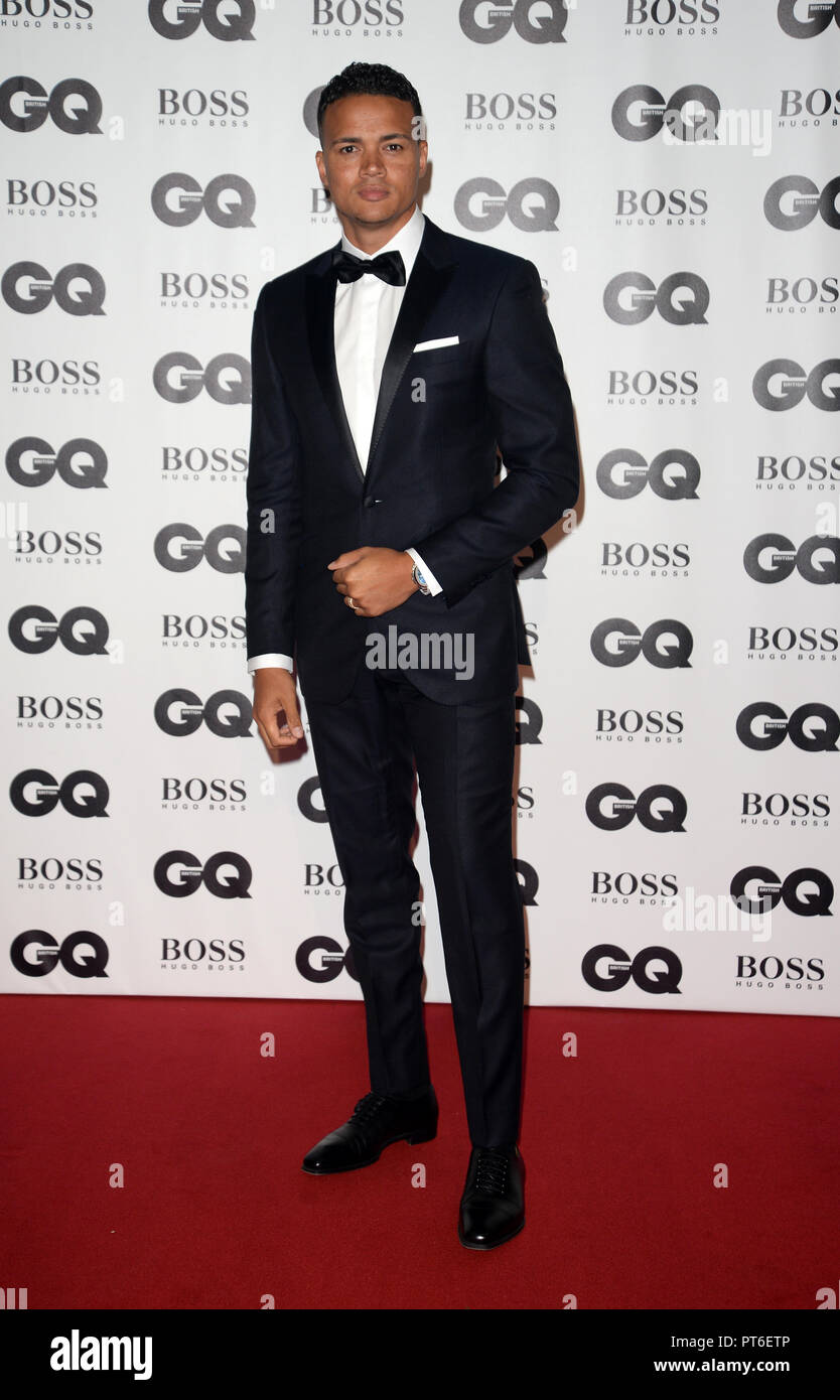 GQ Men Of The Year Awards at The Tate Modern  Featuring: Jermaine Jenas Where: London, United Kingdom When: 05 Sep 2018 Credit: Tony Oudot/WENN - Stock Image