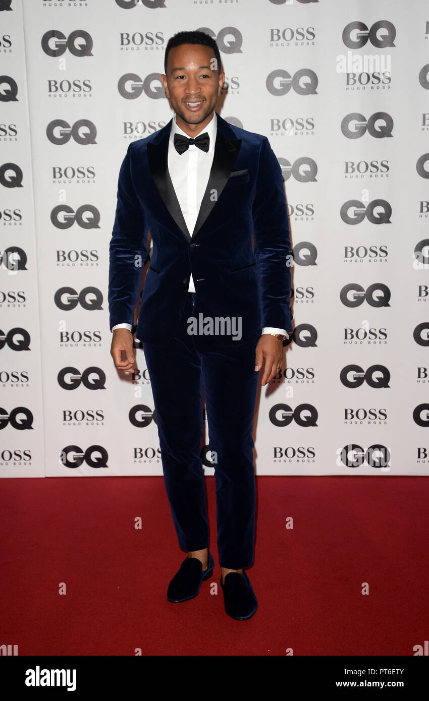 GQ Men Of The Year Awards at The Tate Modern  Featuring: John Legend Where: London, United Kingdom When: 05 Sep 2018 Credit: Tony Oudot/WENN - Stock Image