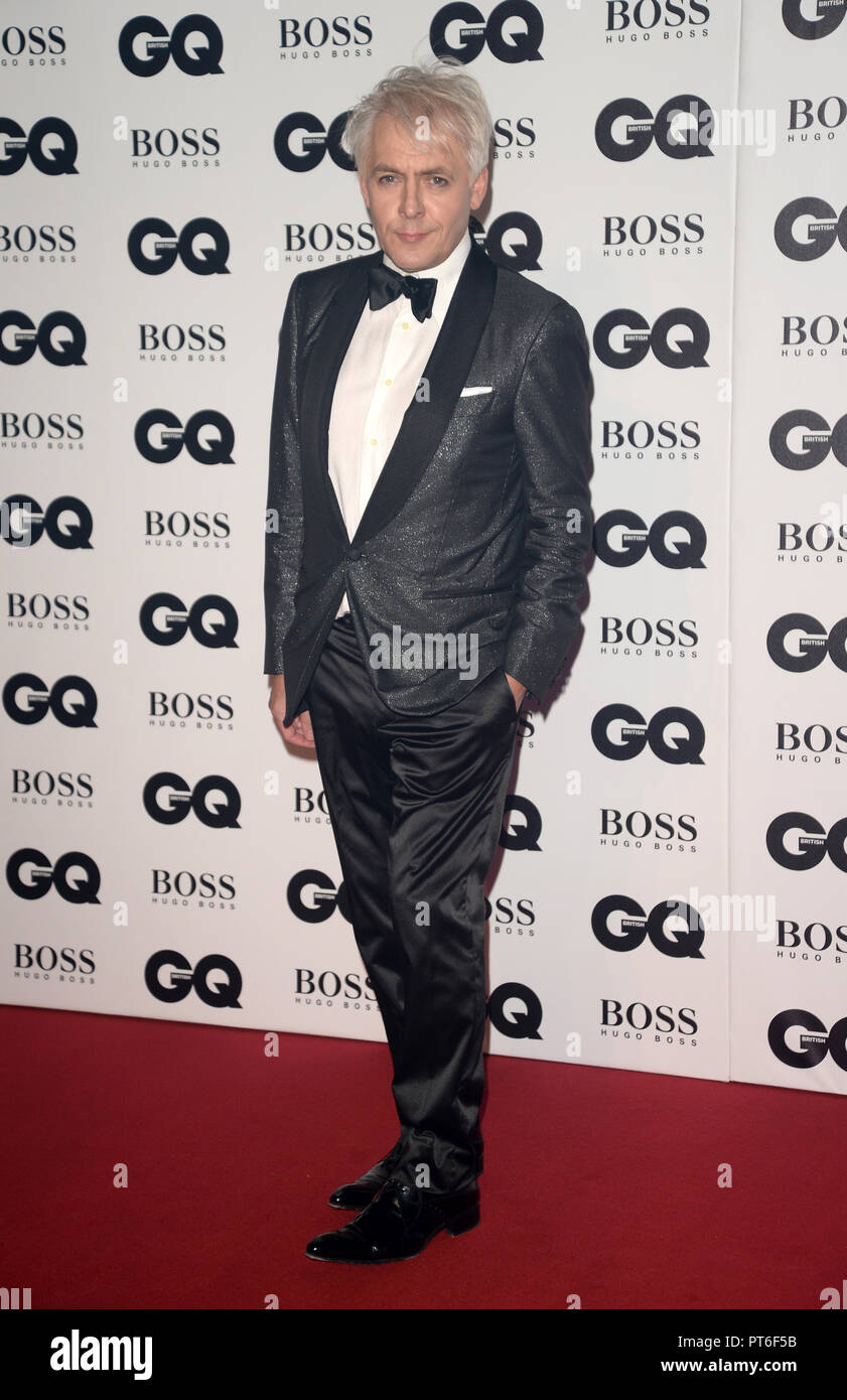 GQ Men Of The Year Awards  Featuring: Nick Rhodes Where: London, United Kingdom When: 05 Sep 2018 Credit: Tony Oudot/WENN - Stock Image