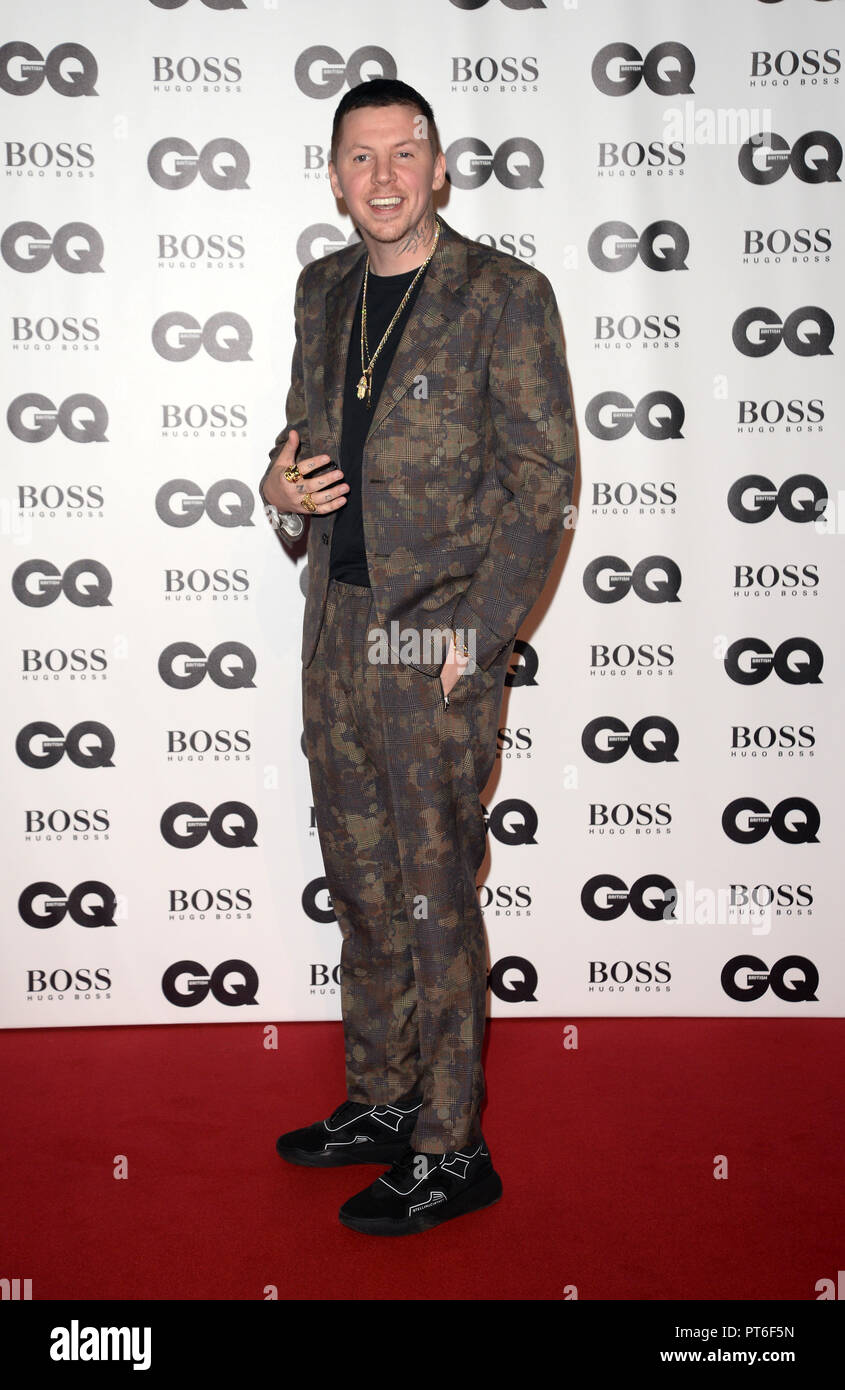 GQ Men Of The Year Awards  Featuring: Professor Green Where: London, United Kingdom When: 05 Sep 2018 Credit: Tony Oudot/WENN - Stock Image