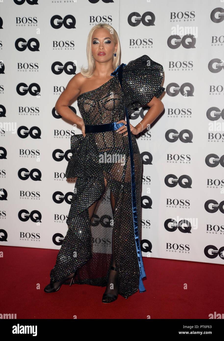 GQ Men Of The Year Awards  Featuring: Rita Ora Where: London, United Kingdom When: 05 Sep 2018 Credit: Tony Oudot/WENN - Stock Image