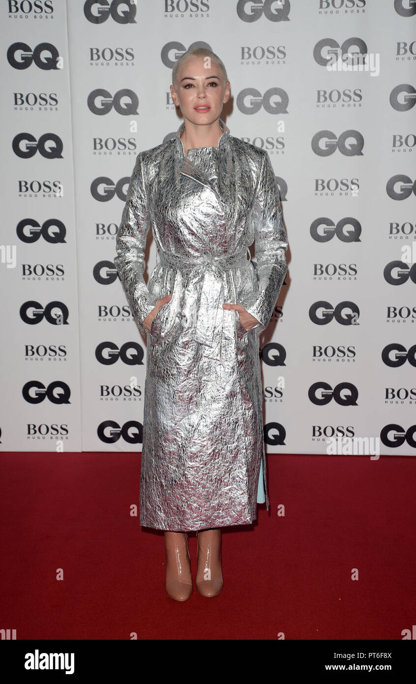 GQ Men Of The Year Awards  Featuring: Rose McGowan Where: London, United Kingdom When: 05 Sep 2018 Credit: Tony Oudot/WENN - Stock Image