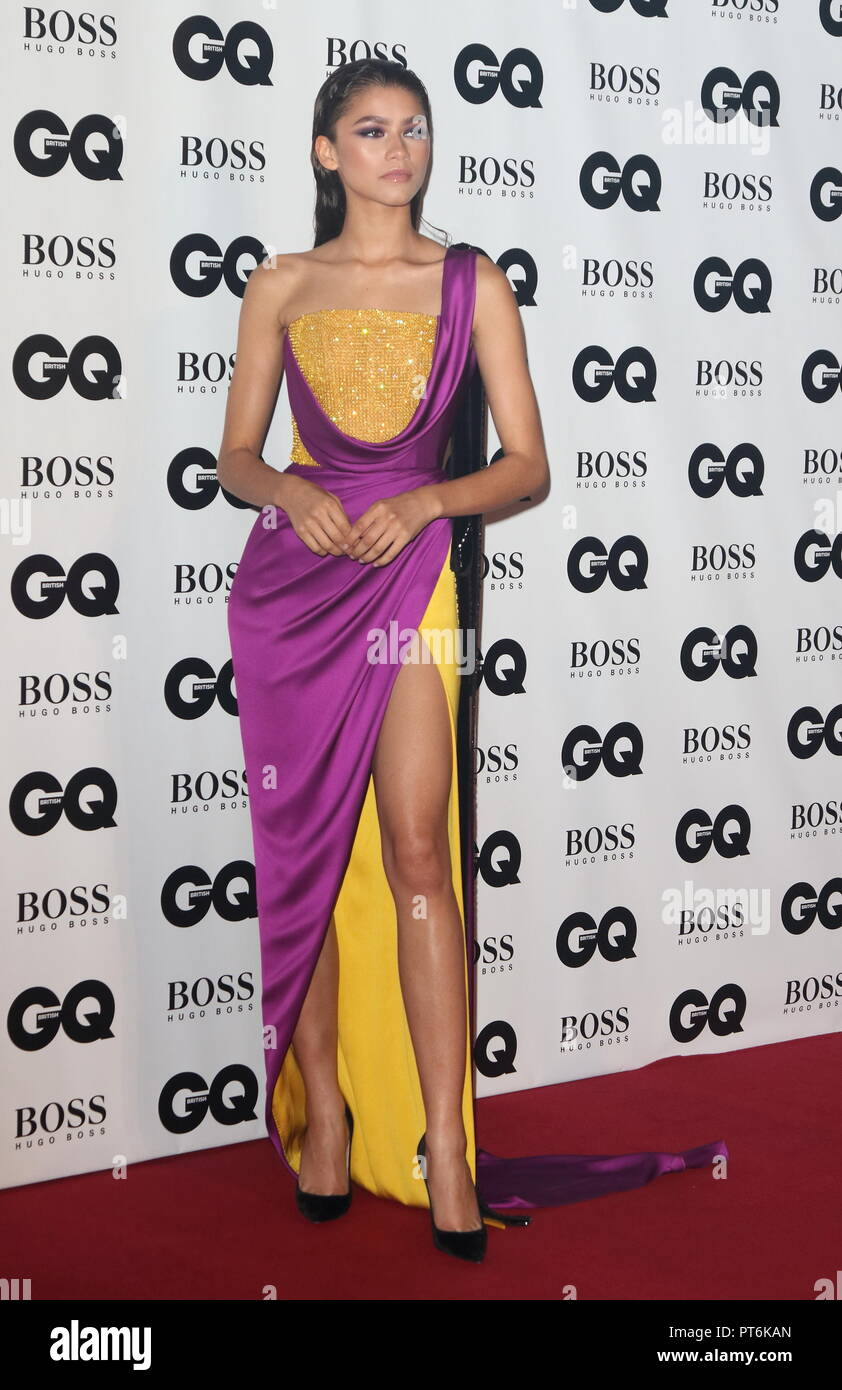 GQ Men Of The Year Awards at the Tate Modern, Bankside,  London  Featuring: Zendaya Where: London, United Kingdom When: 05 Sep 2018 Credit: WENN.com - Stock Image