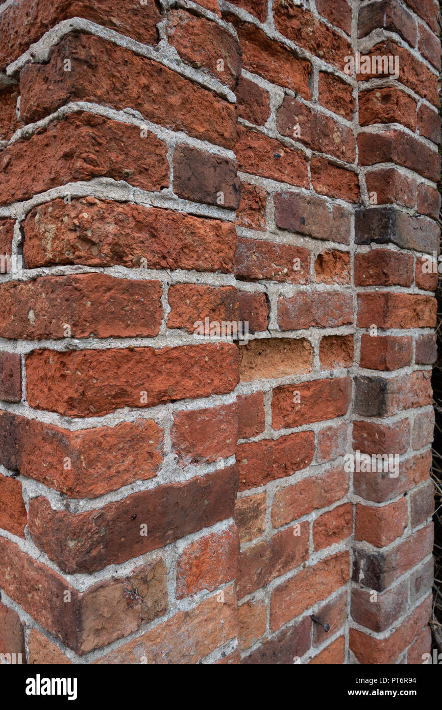Victorian Red Brick Detail In Garden Wall Stock Photo 221426160 Alamy