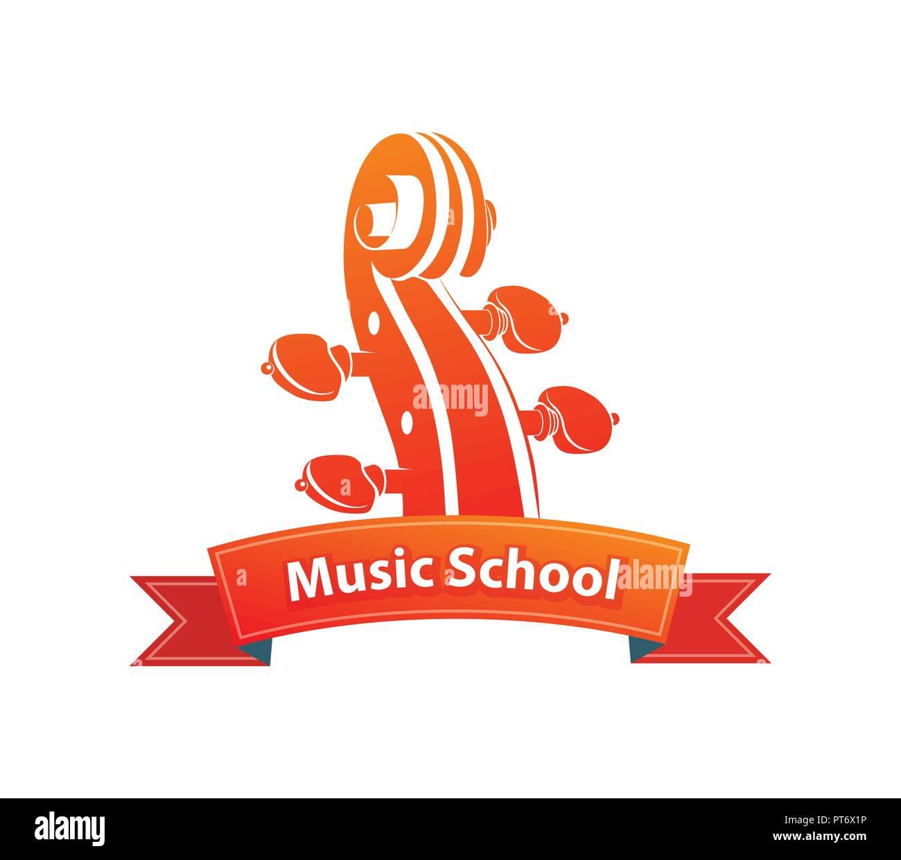 Logo Emblem for Music School - Stock Image