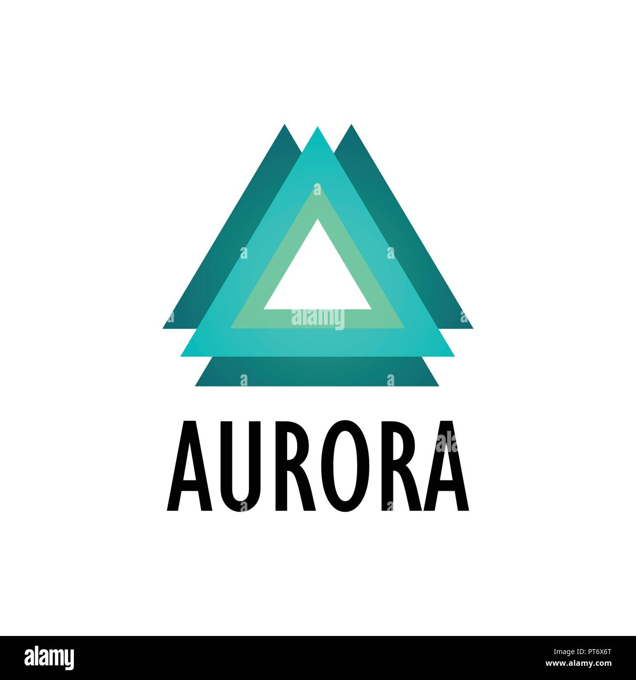 Logotype of Aurora, Northern Lights - Stock Image