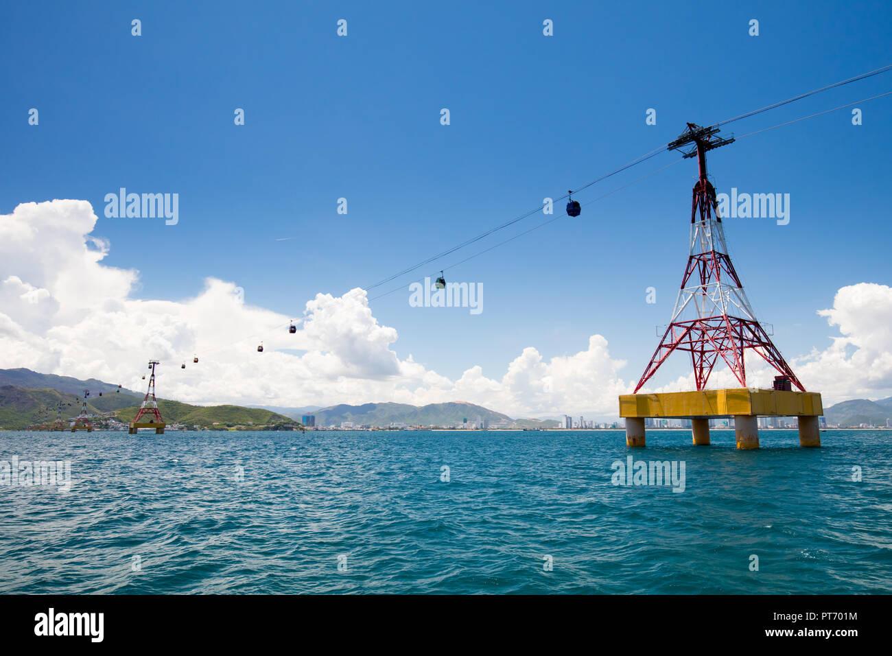 Nha Trang Vietnam Skyline - Stock Image