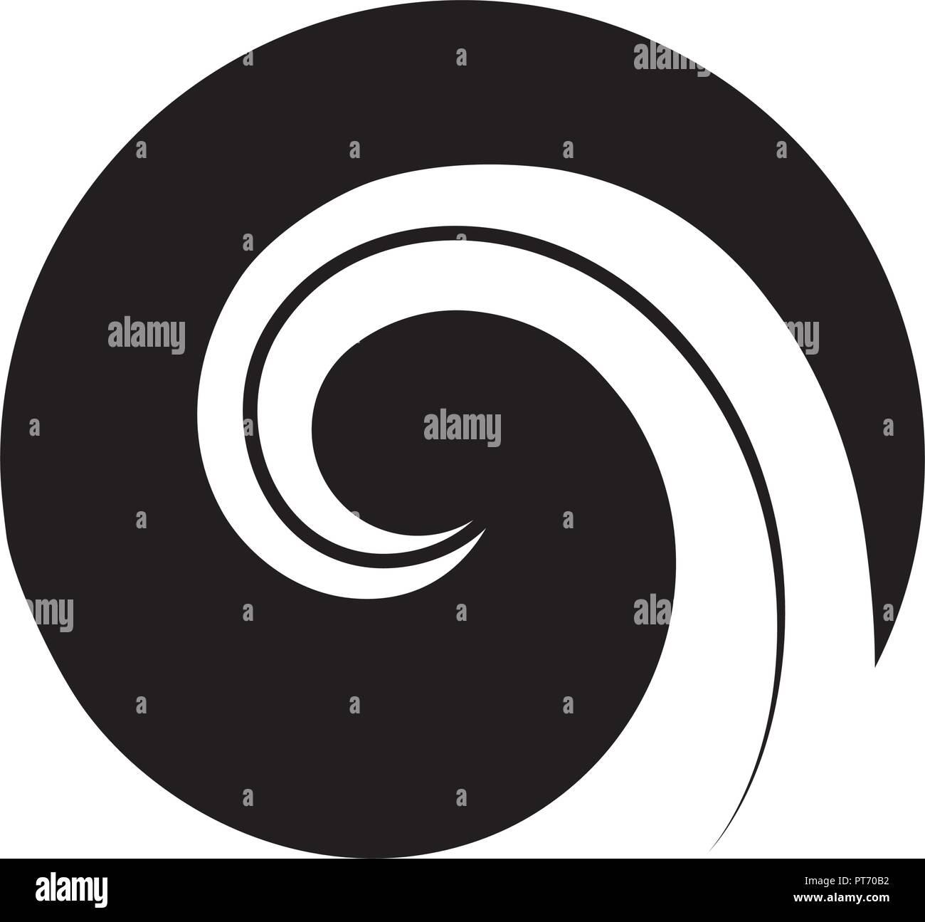505edaf6aa5ef Koru. Maori symbol is a spiral shape based on silver fern frond - Stock  Vector