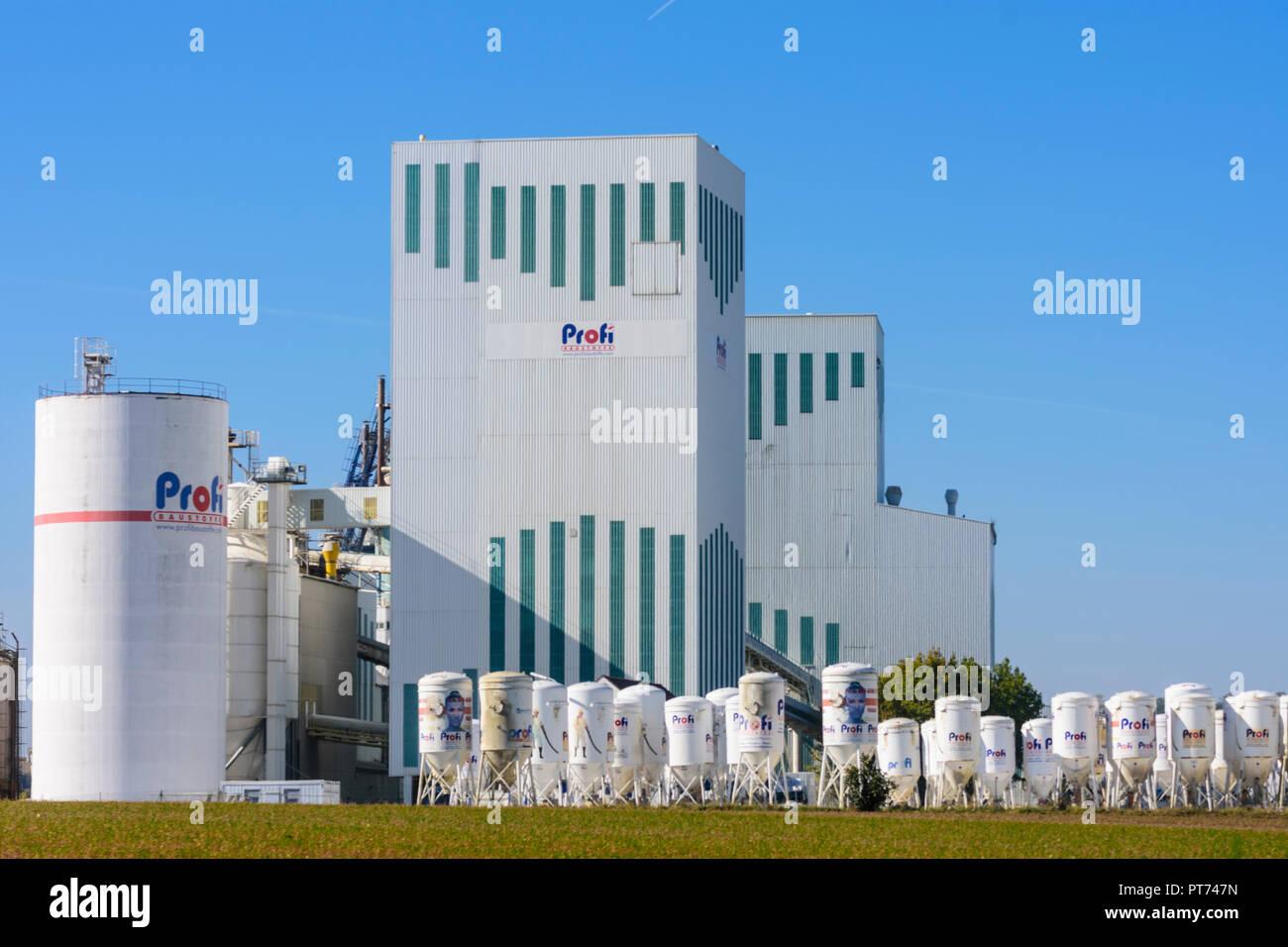 Ernstbrunn: company Ernstbrunner Kalktechnik, Profi Baustoffe in Weinviertel, Niederösterreich, Lower Austria, Austria - Stock Image