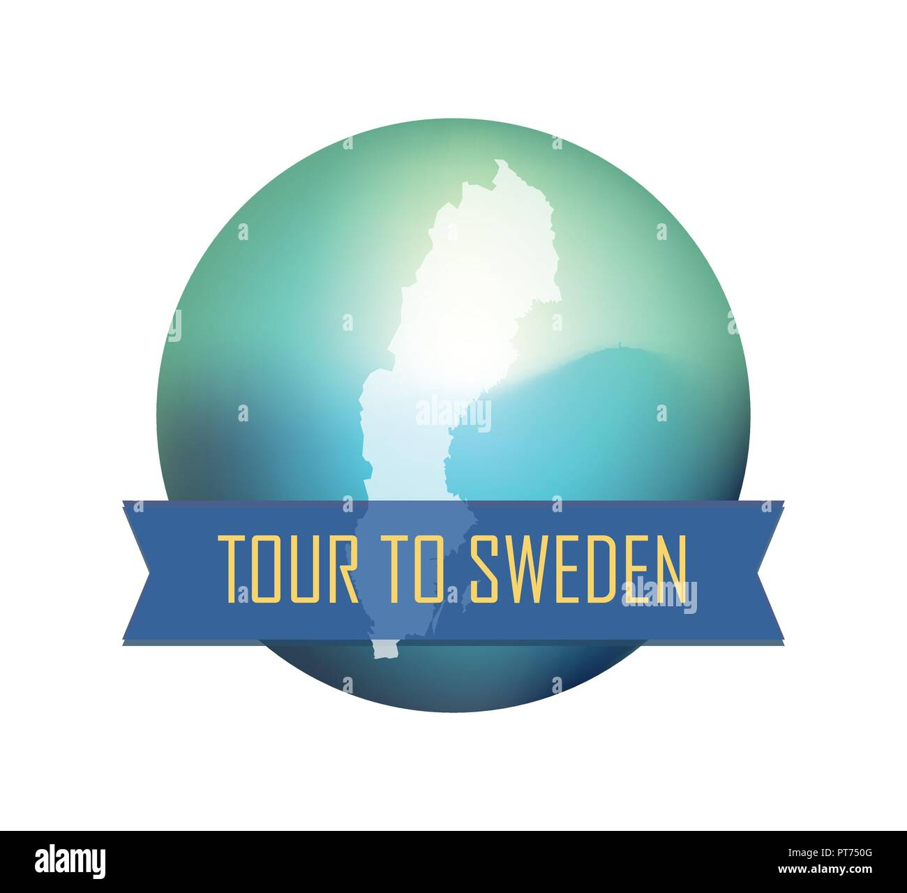 Tour to Sweden - Stock Image