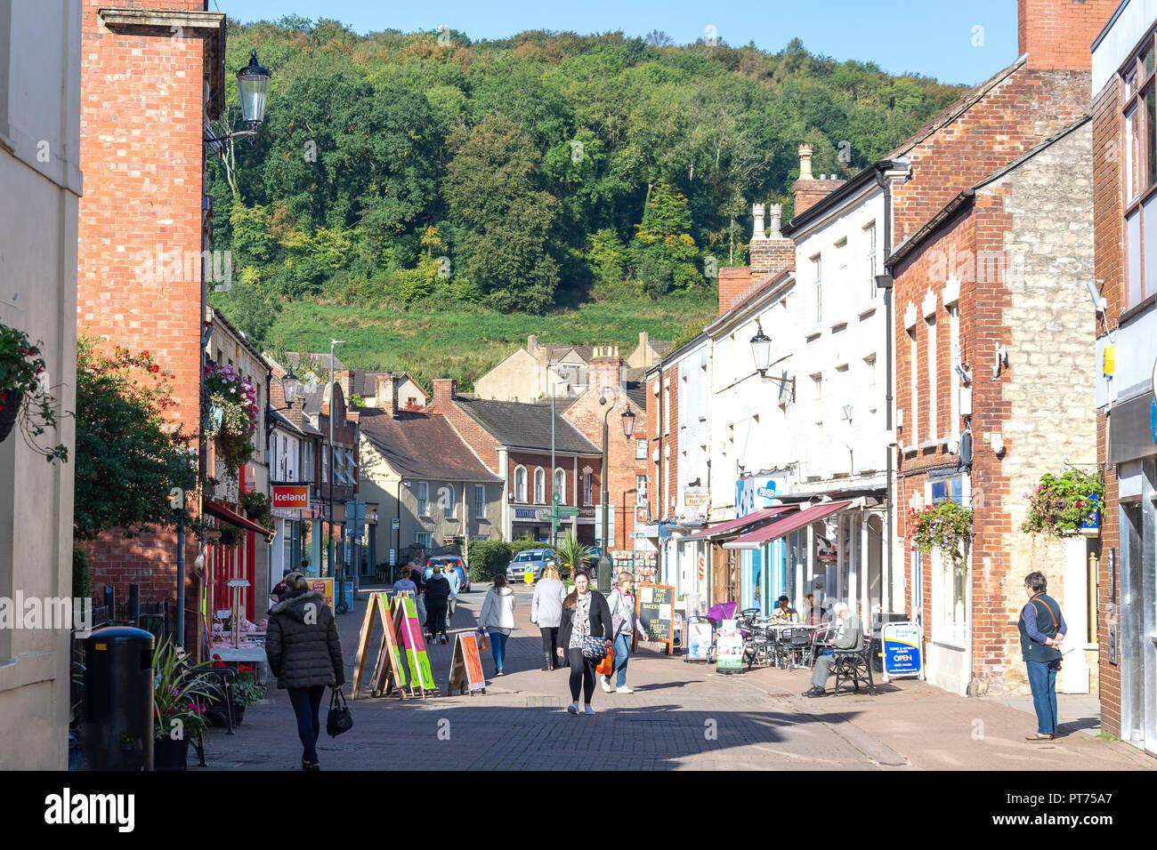 Pedestrianised Parsonage Street, Dursley, Gloucestershire, England, United Kingdom - Stock Image