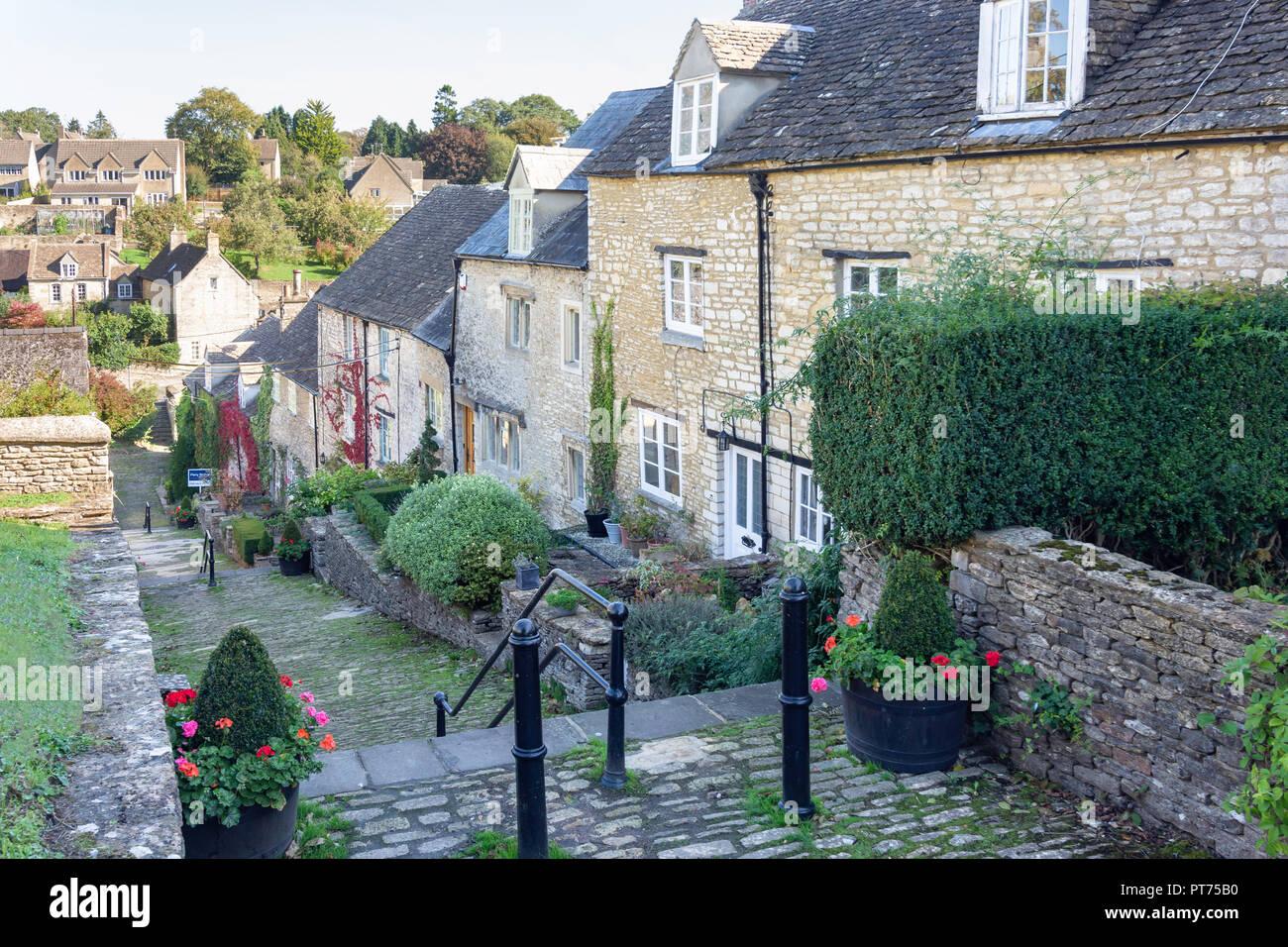 Chipping Steps, Tetbury, Gloucestershire, England, United Kingdom - Stock Image