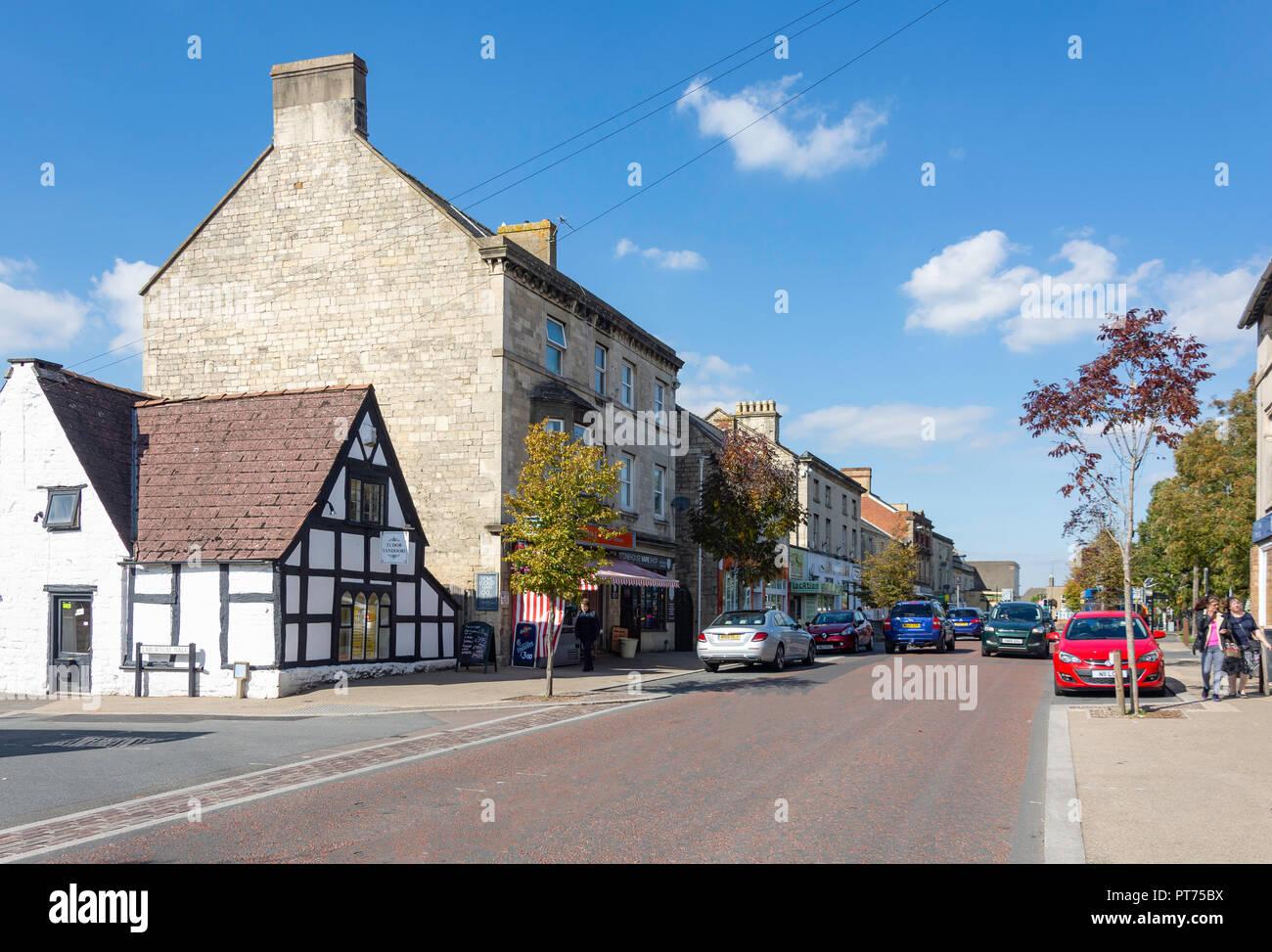 High Street, Stonehouse, Gloucestershire, England, United Kingdom - Stock Image