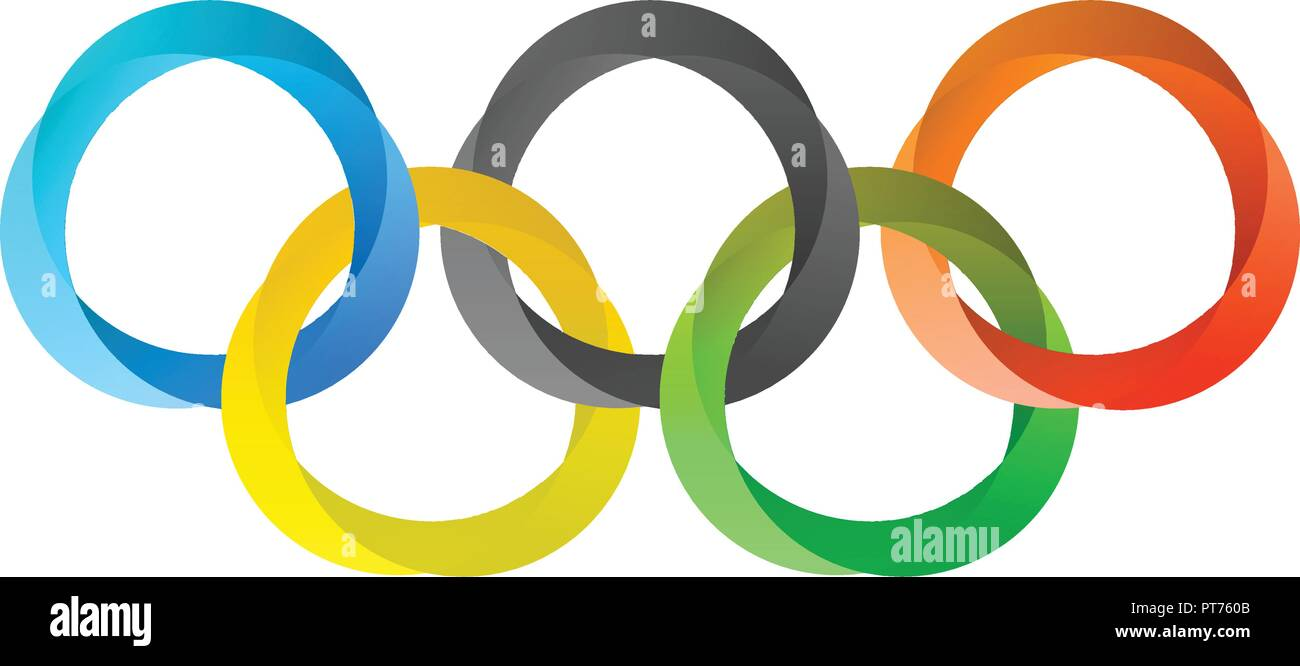Olympics Circles in Modern Style Stock Vector