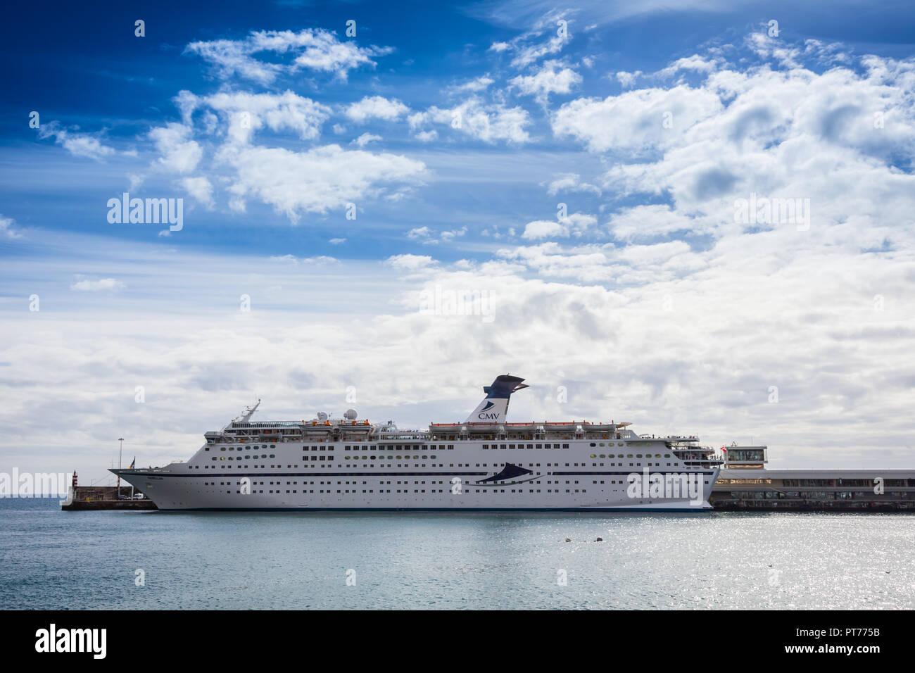 MV Magellan docked in Funchal, Madeira - Stock Image