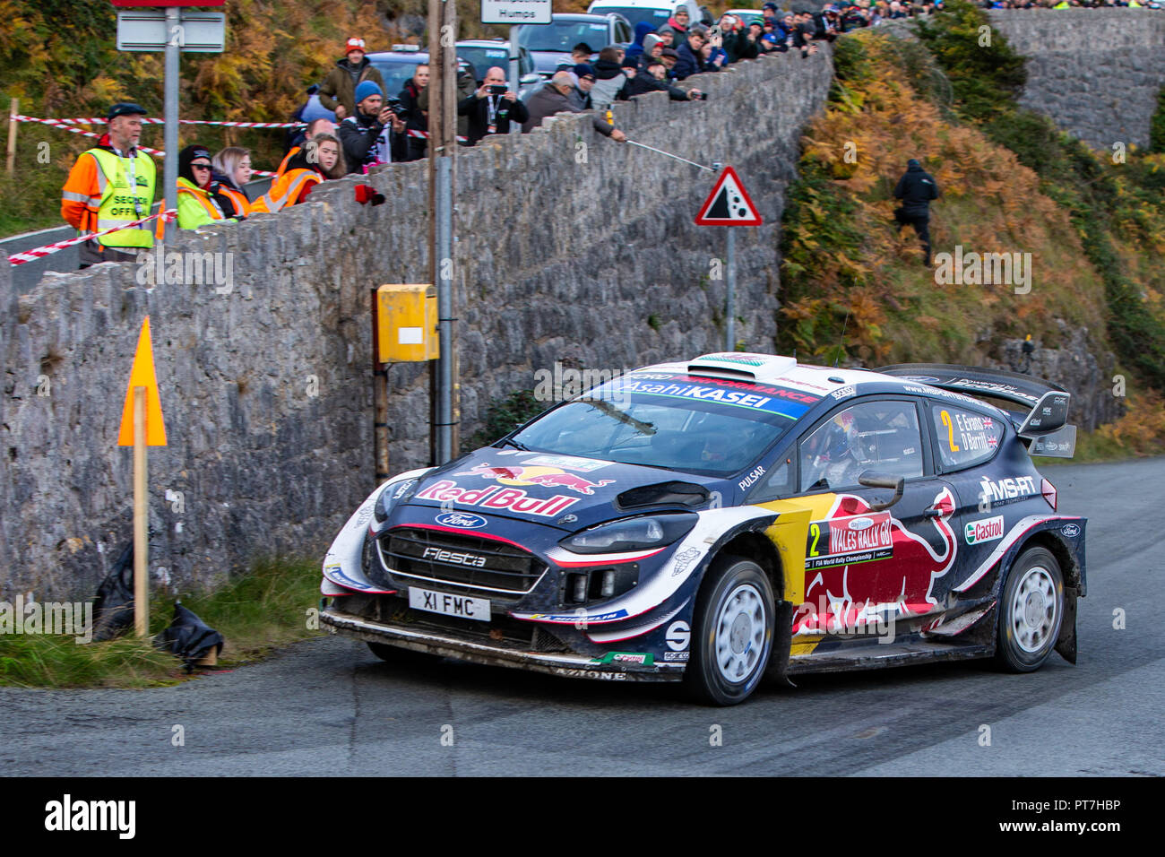 llandudno uk 7th oct 2018 wrc dayinsure wales rally gb day 4 m sport ford world rally team. Black Bedroom Furniture Sets. Home Design Ideas