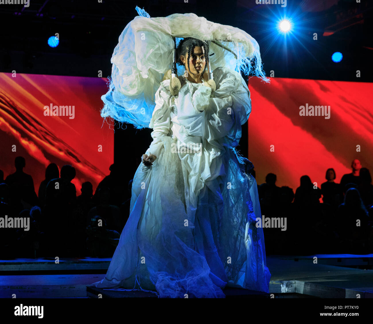 Southbank Centre London 7th Oct 2018 Academy Award Winning Designer Tim Yip Crouching Tiger Hidden Dragon Presents 25 Spectacular Costumes In A Performance Inspired By Global Diversity And Climate Change Cloud Is