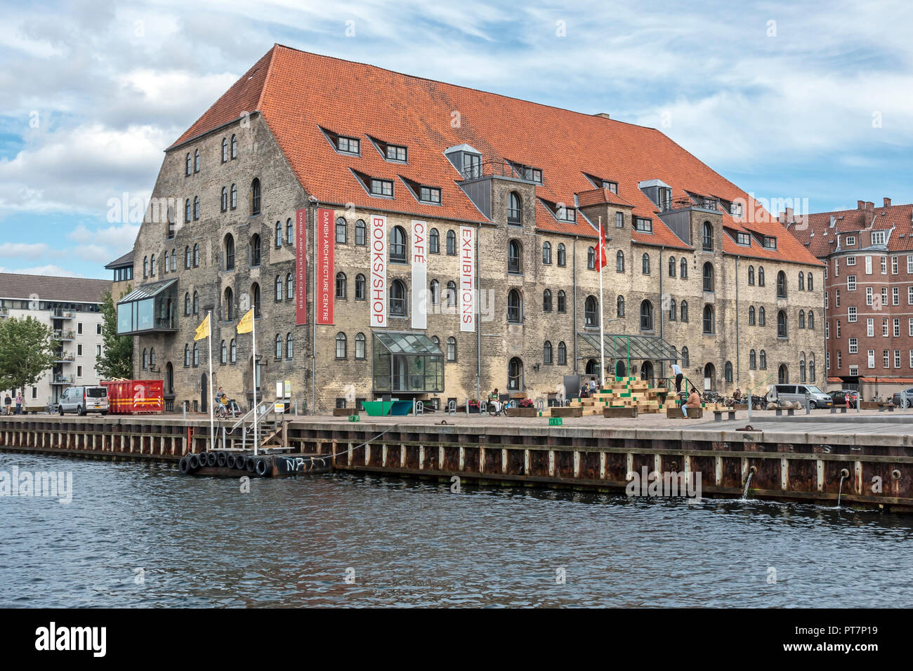 Danish Architecture Centre (Dansk Arkitektur Center) Baadmandsstraede Copenhagen Harbour Denmark Europe - Stock Image