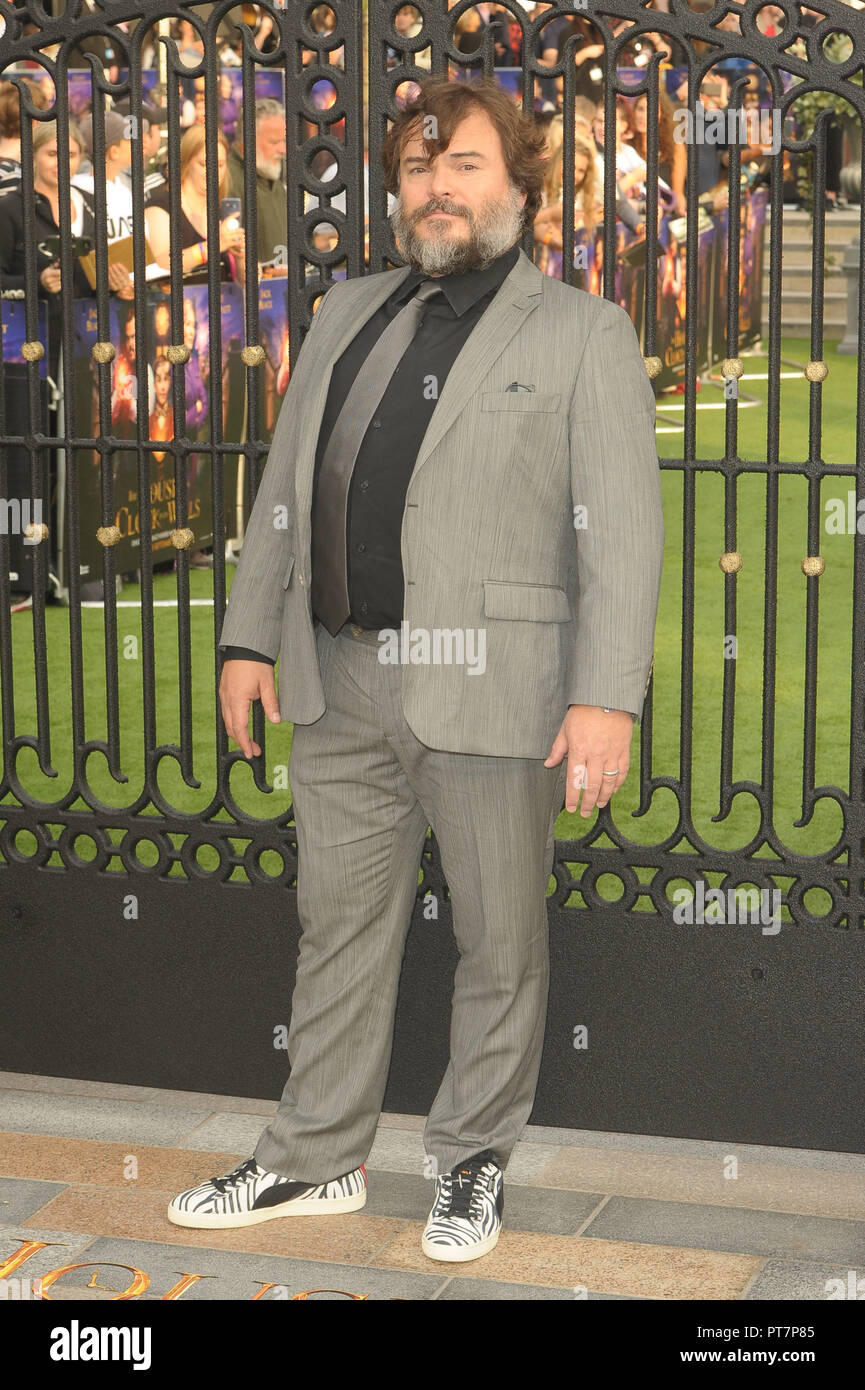 UK premiere of 'The House With The Clock In Its Walls' - Arrivals  Featuring: Jack Black Where: London, United Kingdom When: 05 Sep 2018 Credit: WENN.com - Stock Image