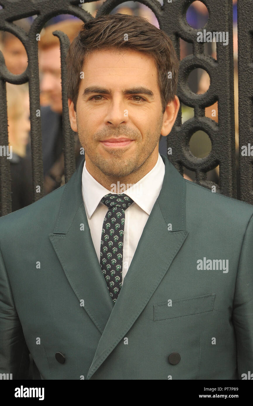 UK premiere of 'The House With The Clock In Its Walls' - Arrivals  Featuring: Eli Roth Where: London, United Kingdom When: 05 Sep 2018 Credit: WENN.com - Stock Image